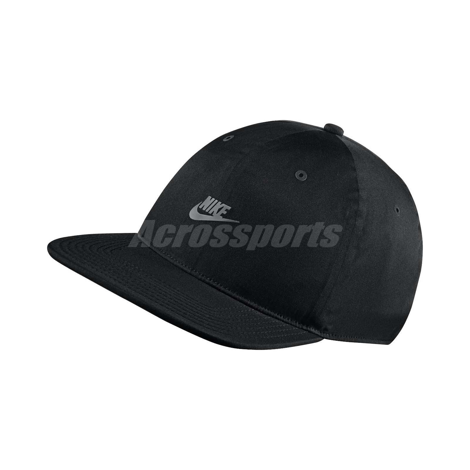 7eee9f3d6eb42 Details about Nike Sportswear Vapor Adjustable Hat Pro Tech Cap Black  Silver Sport 851653-010