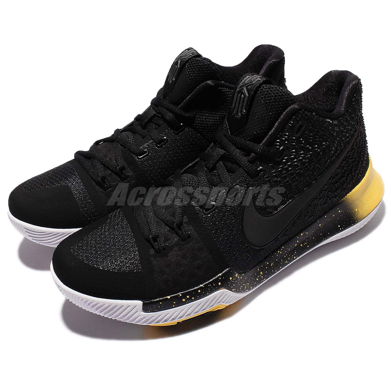 45fb03de65f4 Detalles acerca de Nike Kyrie 3 EP III Kyrie Irving La Chaqueta Negro  Amarillo Hombres Zapatos 852396-901- mostrar título original