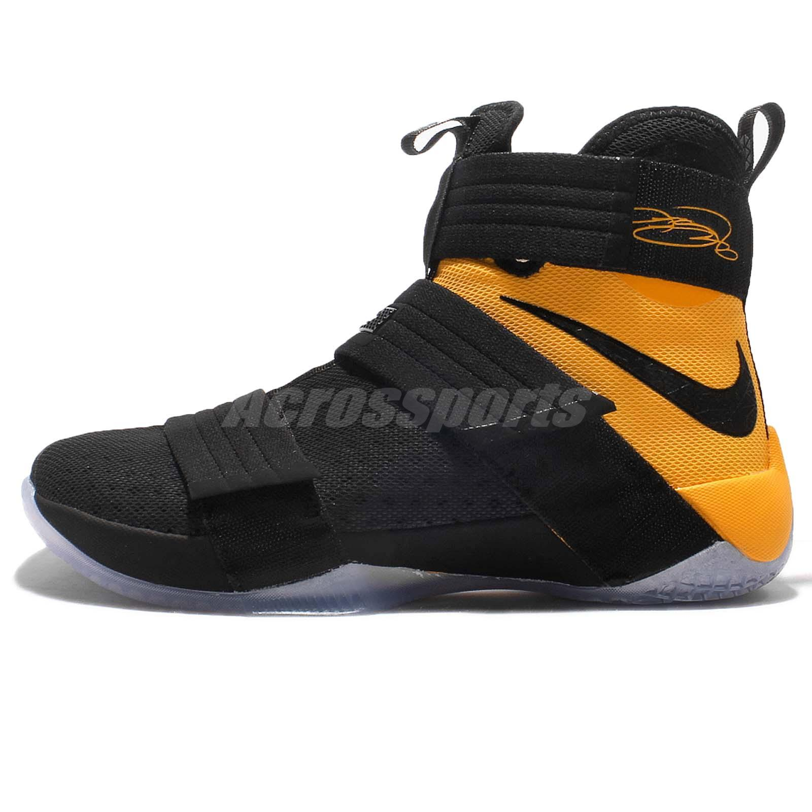 44085675a26 ... Nike Lebron Soldier 10 SFG EP X James Black Gold Men Basketball Shoes  852419-007 ...