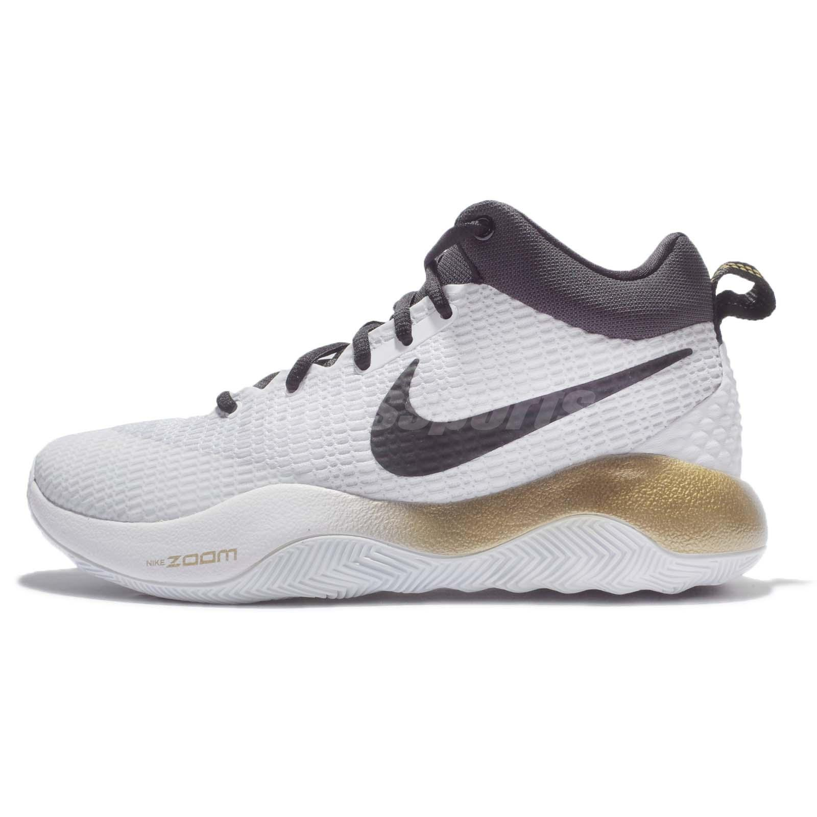 Nike Zoom Rev Ep White Metallic Gold Men Basketball Shoes Trainers