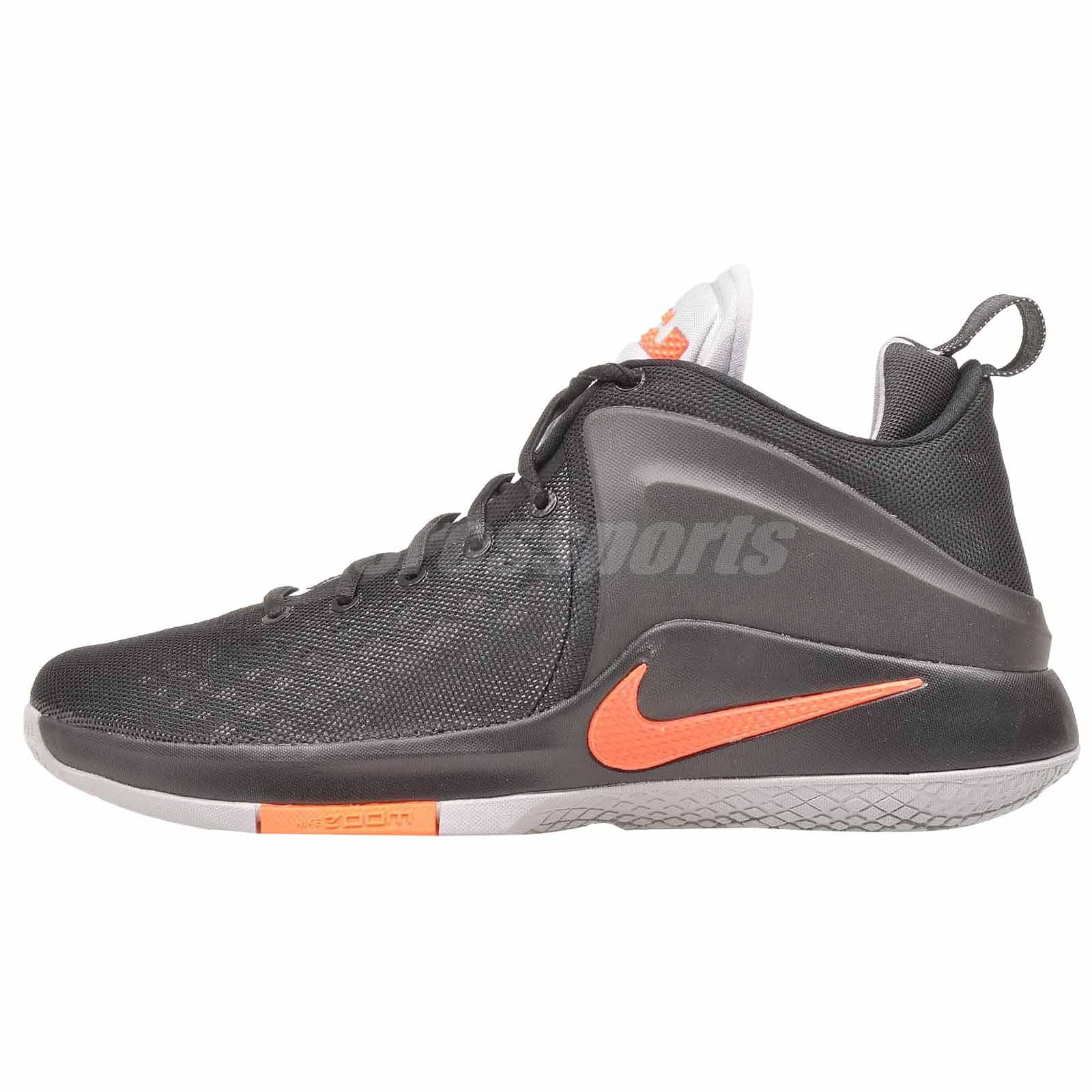 4a13bdfc5fb8 Nike Zoom Witness Basketball Mens Shoes Black Grey 852439-006