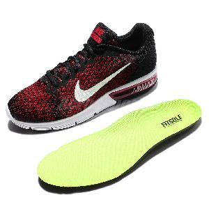 5cdb3756be ... Nike Air Max Sequent 2 II Red Black Men Running Shoes Sneakers 852461- 006 ...