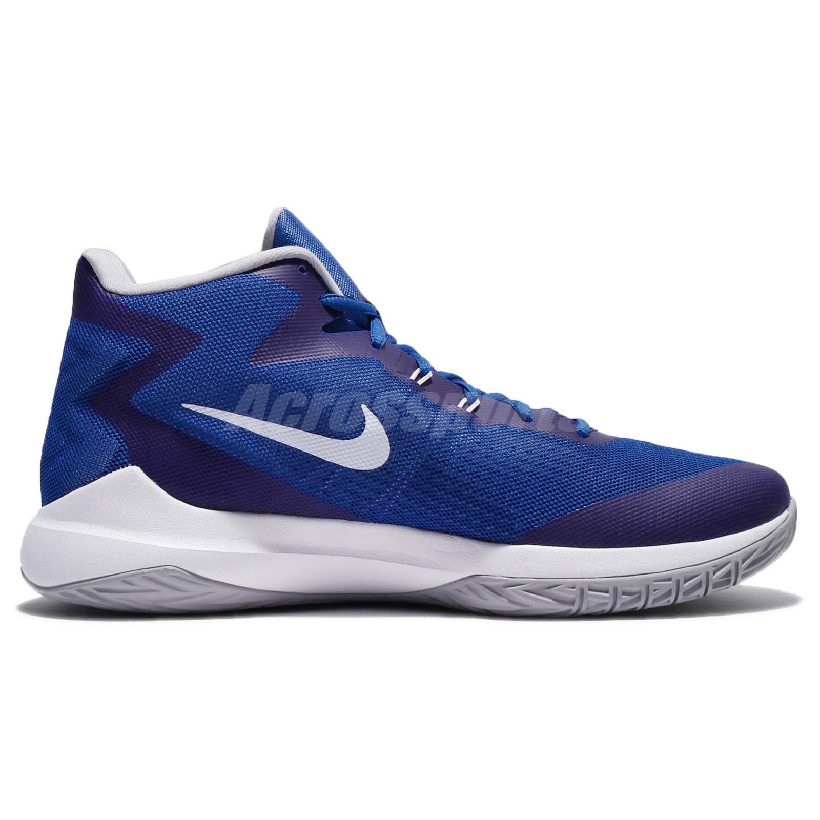 a8e14e144bbe Nike Zoom Evidence Game Blue Wolf Grey Men Basketball Shoes Sneakers ...