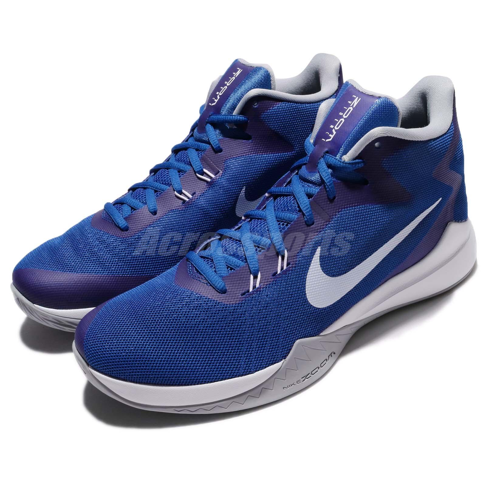 big sale 41dc5 31f9f Details about Nike Zoom Evidence Game Blue Wolf Grey Men Basketball Shoes  Sneakers 852464-401