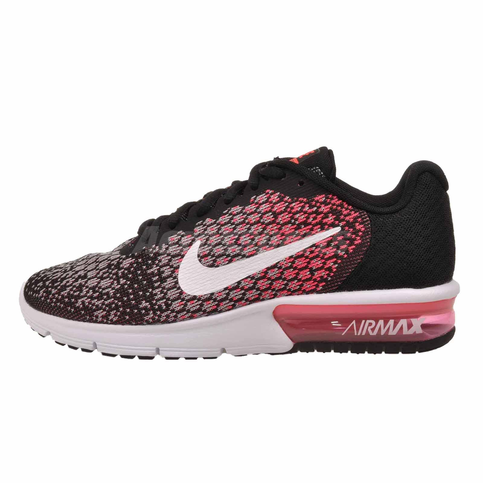Nike Wmns Air Max Sequent 2 Running Womens Shoes Black Pink 852465 ... 80aa4fbc8c74