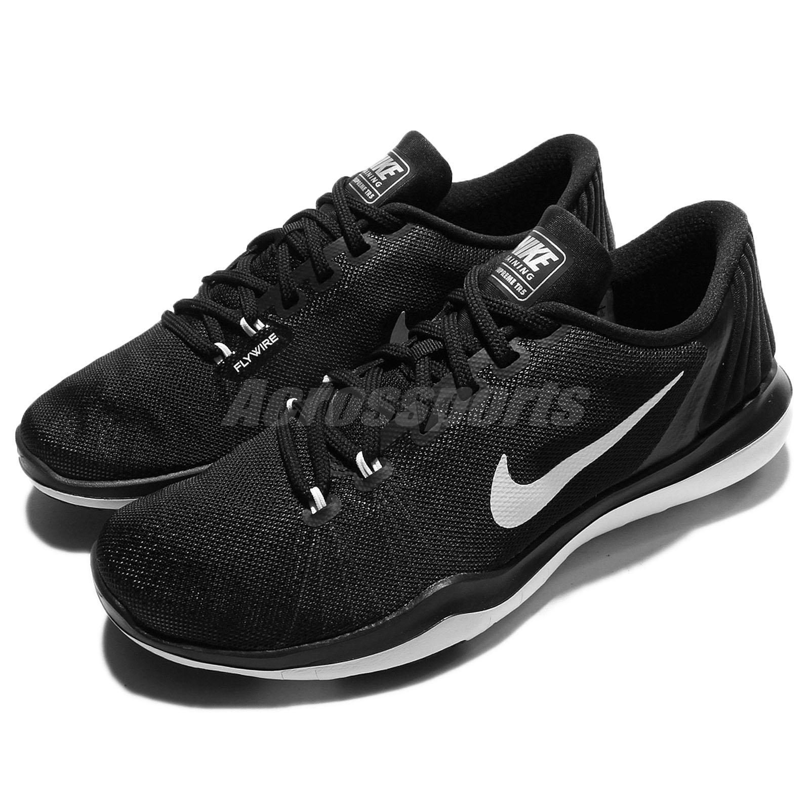 1c65cda357db Wmns Nike Flex Supreme TR 5 V Black White Women Training Shoe ...
