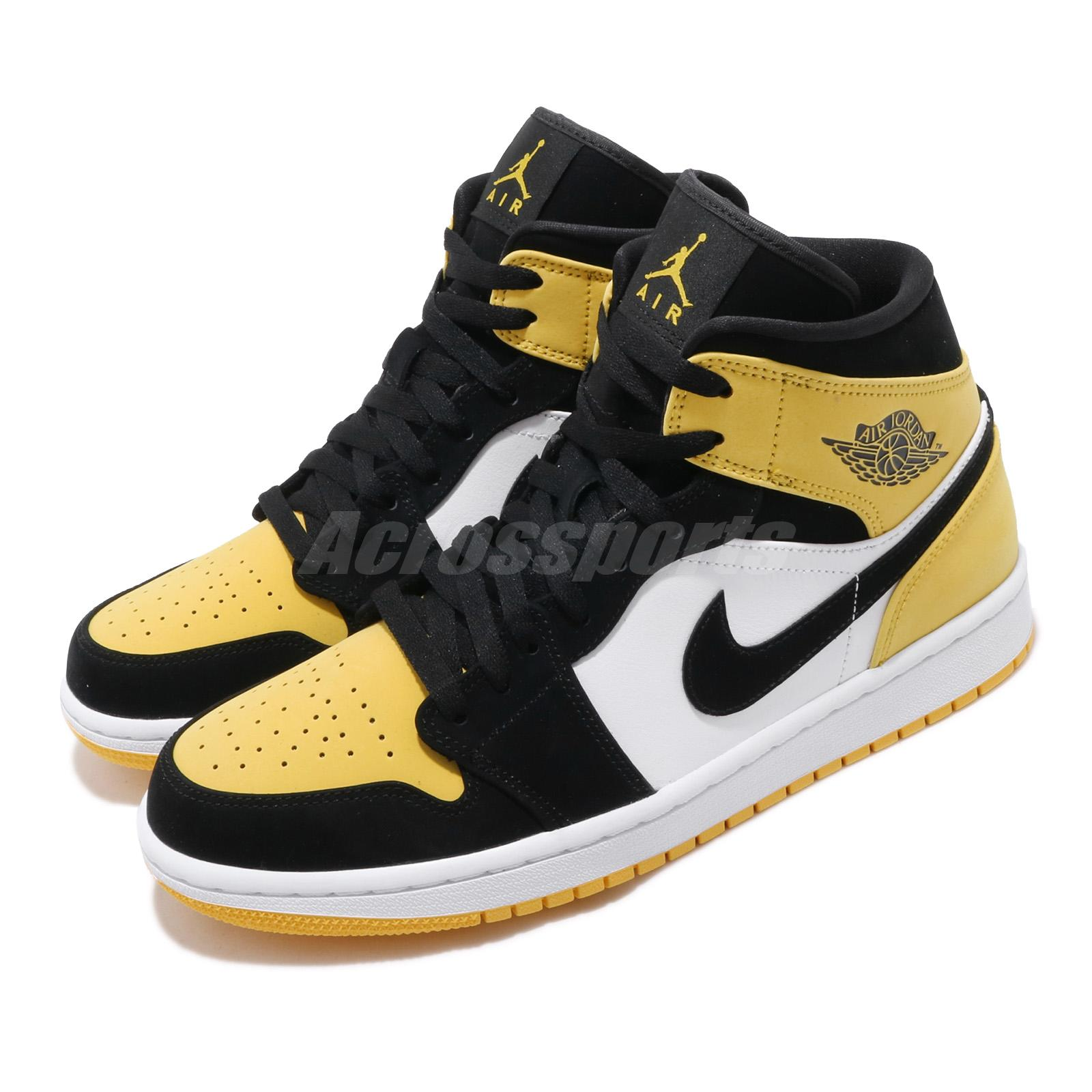 Najlepiej gorąca sprzedaż online ekskluzywne oferty Details about Nike Air Jordan 1 Mid SE I AJ1 Yellow Toe Black Men Shoes  Sneakers 852542-071