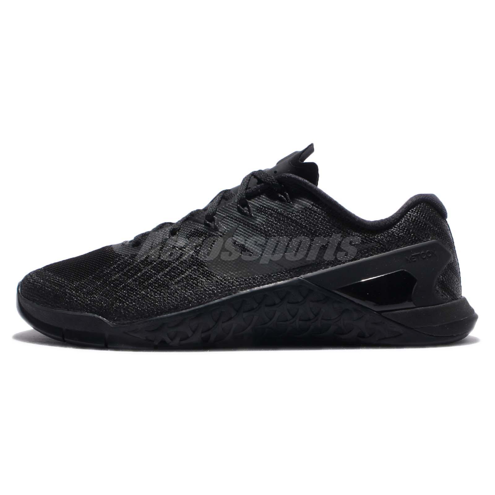 54a5de78eabc Nike Metcon 3 III Triple Black Men Training CrossFit Shoes Sneakers  852928-002
