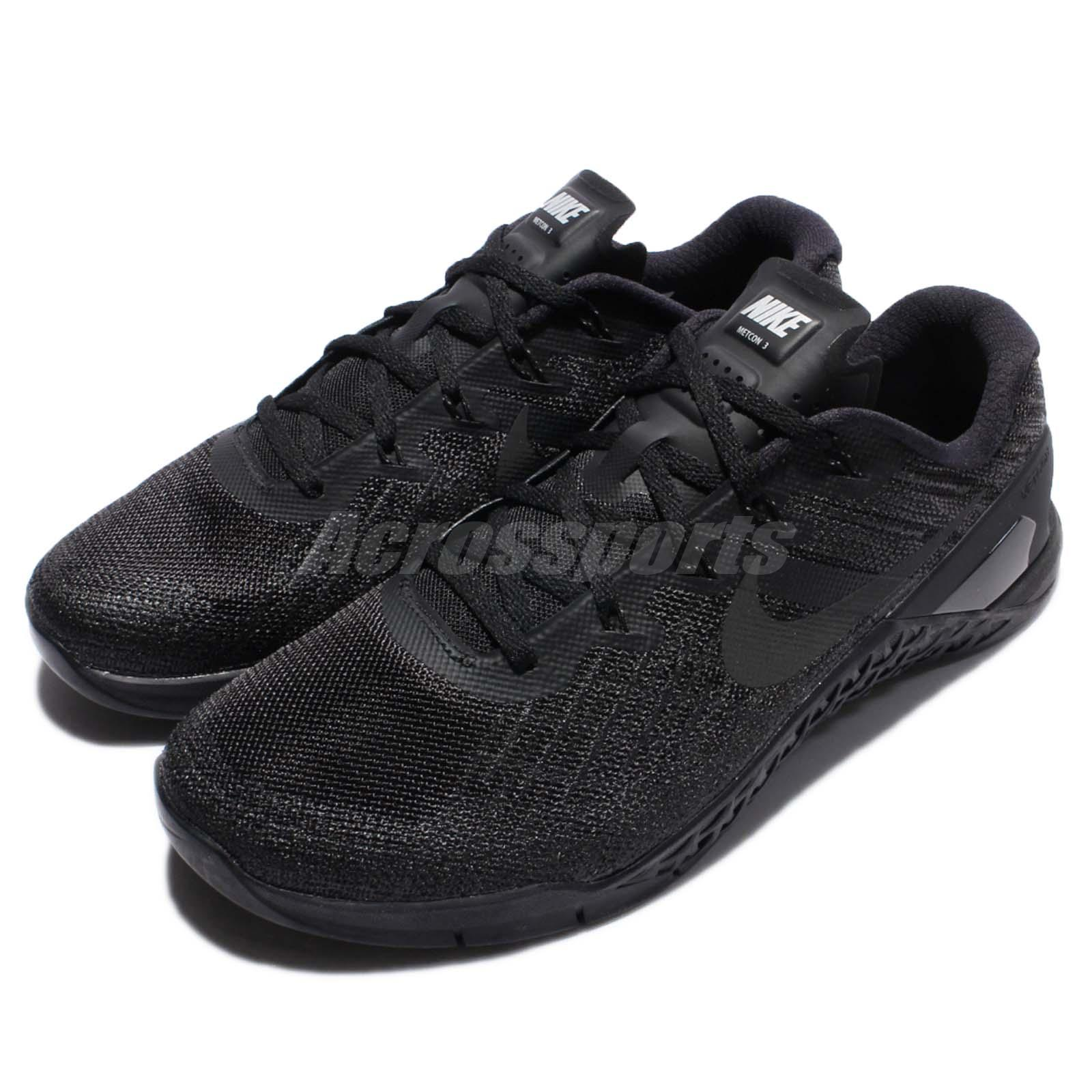 4530faef099ff Details about Nike Metcon 3 III Triple Black Men Training CrossFit Shoes  Sneakers 852928-002
