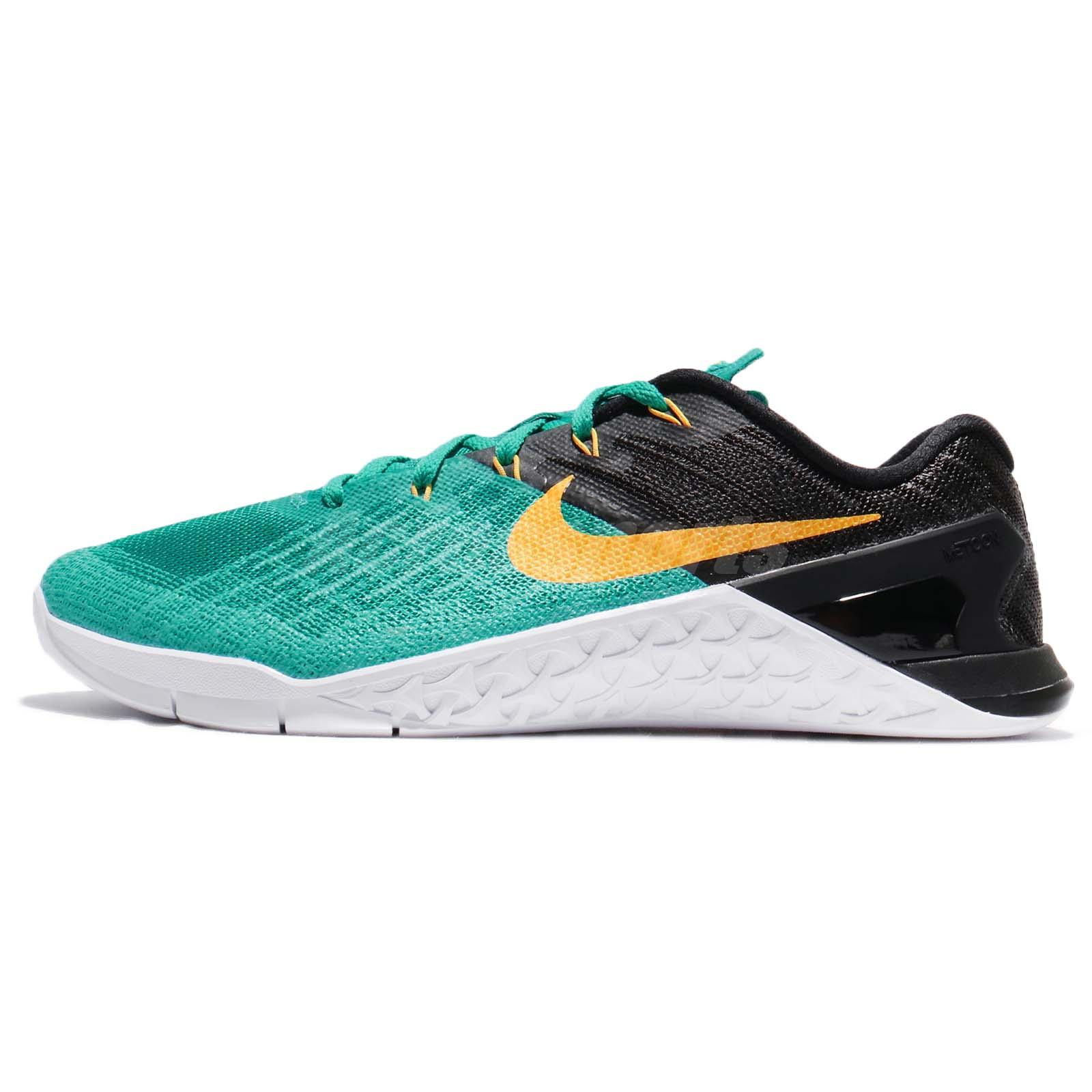 e8fb9dfa6cf1 Nike Metcon 3 III Clear Jade Laser Orange Men Training Lifting Shoes  852928-300