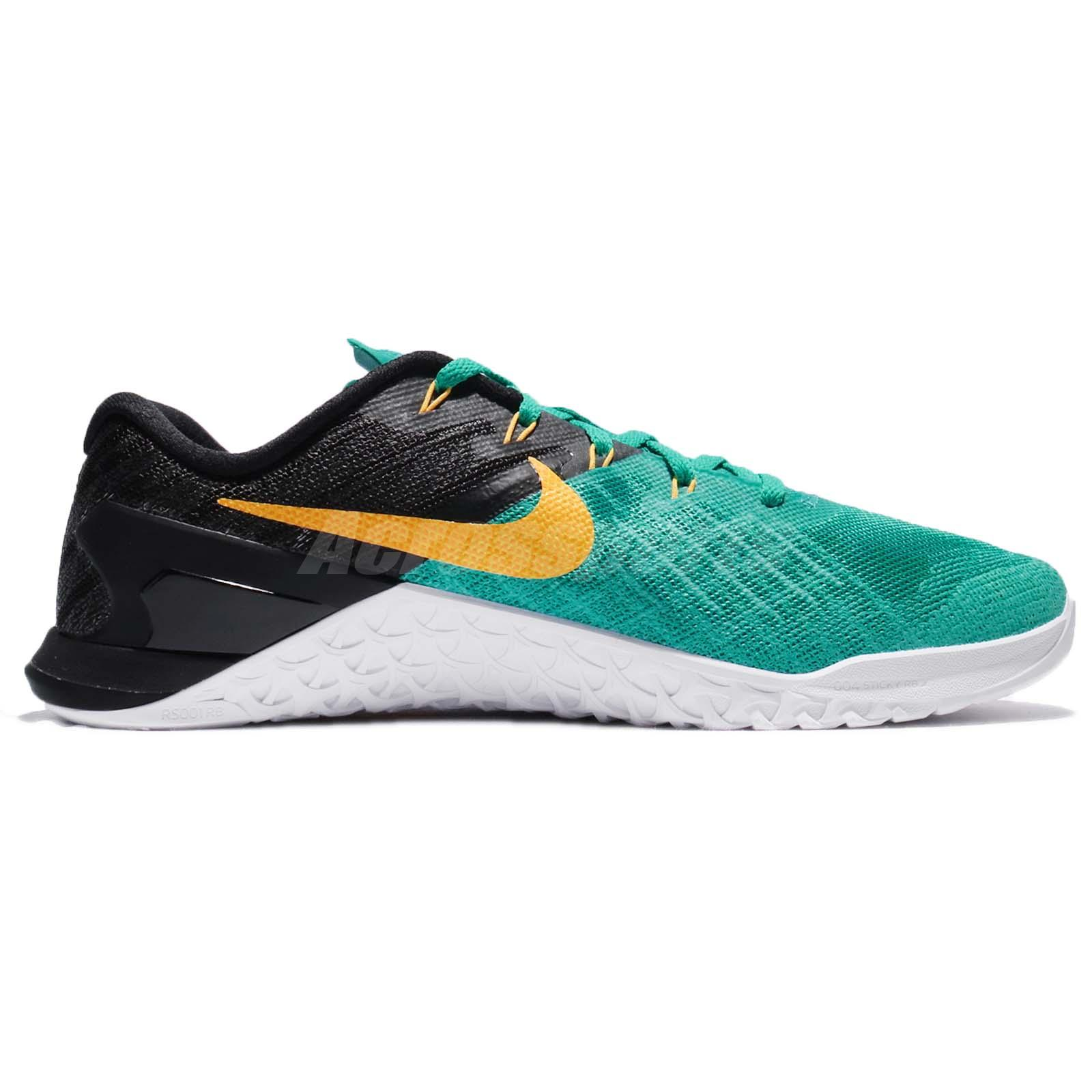 6f4ec0409cec Nike Metcon 3 III Clear Jade Laser Orange Men Training Lifting Shoes ...