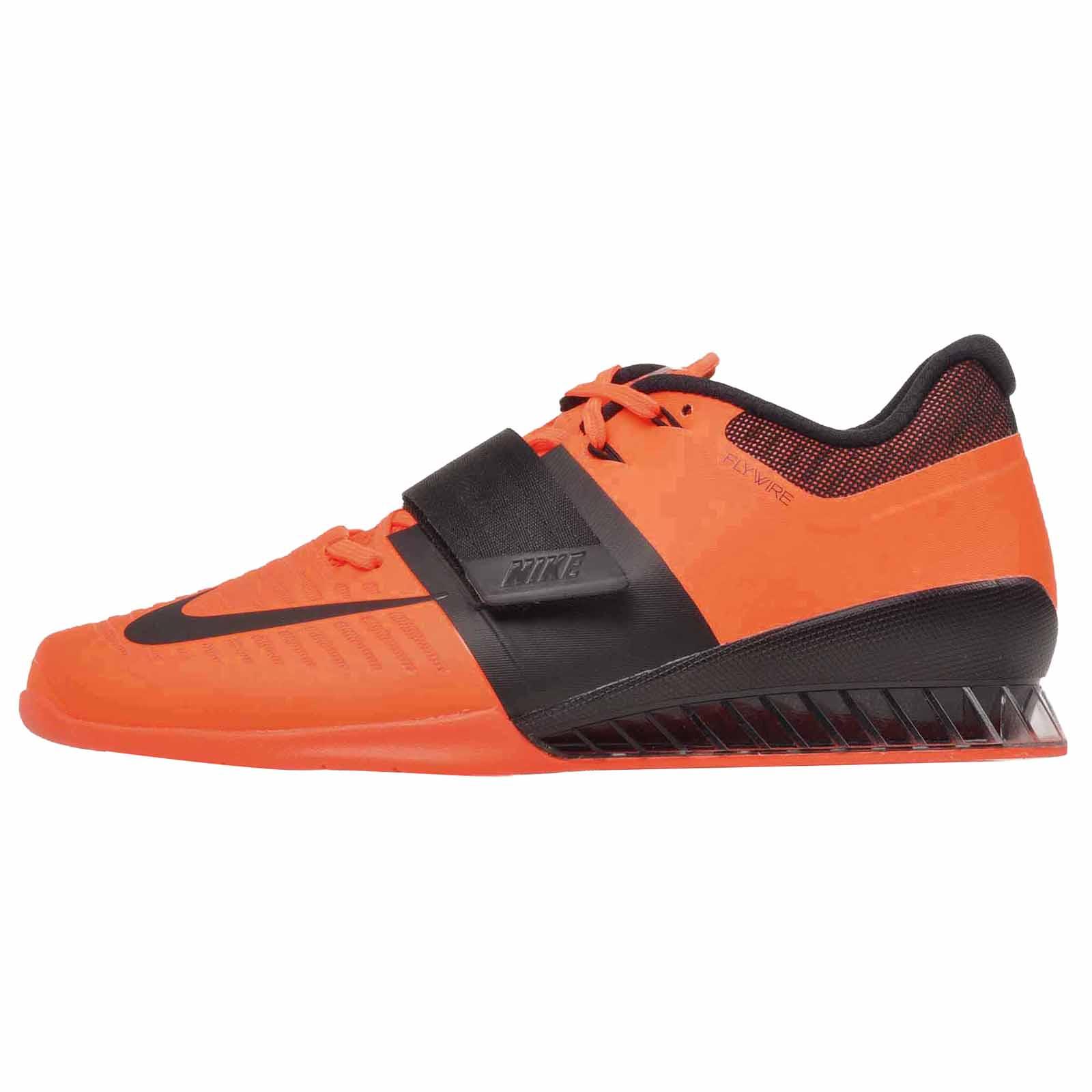 sale retailer d4564 b53a4 801 852933 3 Nike Orange Cross pour d haltérophilie chaussures vif Training  Romaleos hommes TPaW1PR