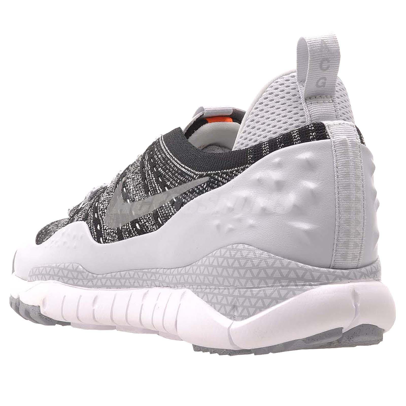 Nike ACG Lupinek Flyknit Low Men Casual Shoes Black Silver Nike ... 6208d0873a26