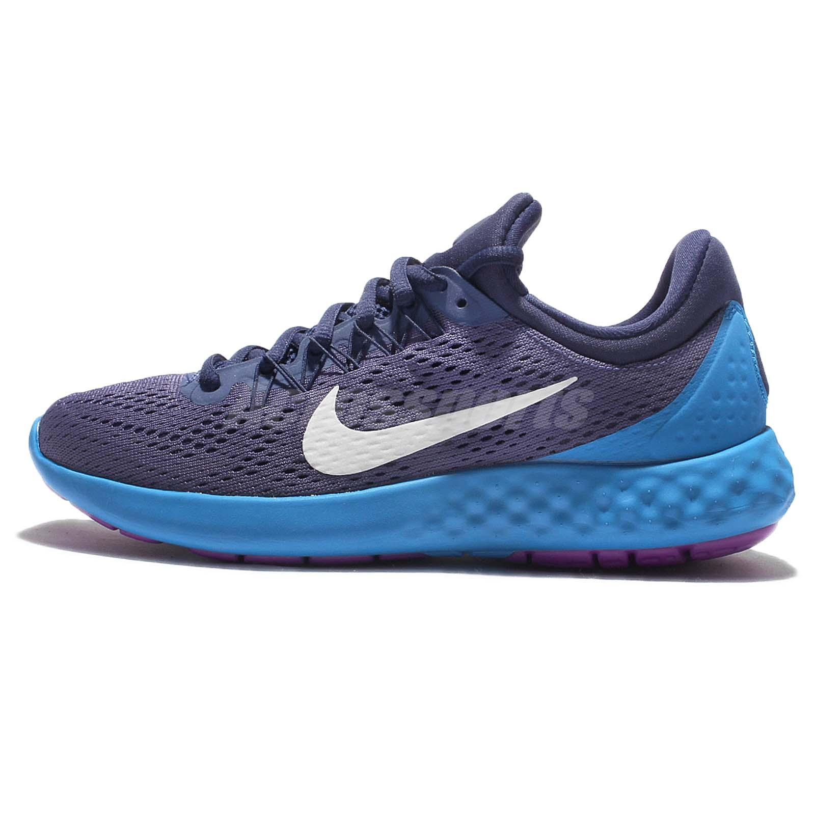 Wmns Nike Lunar Skyelux Blue White Womens Running Shoes Sneakers 855810-501