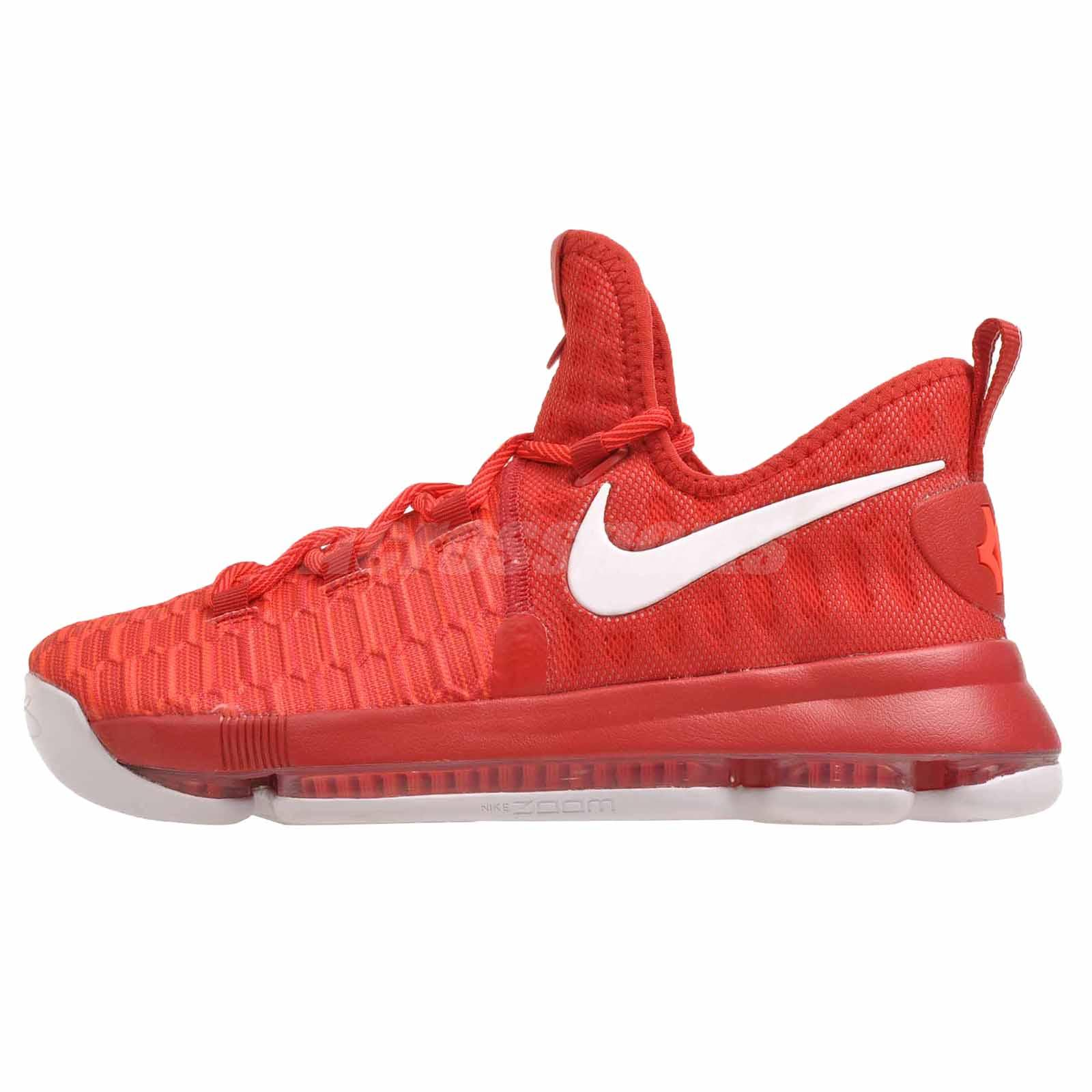Nike Zoom KD9 GS Kevin Durant Kids Basketball Shoes Red 855908611