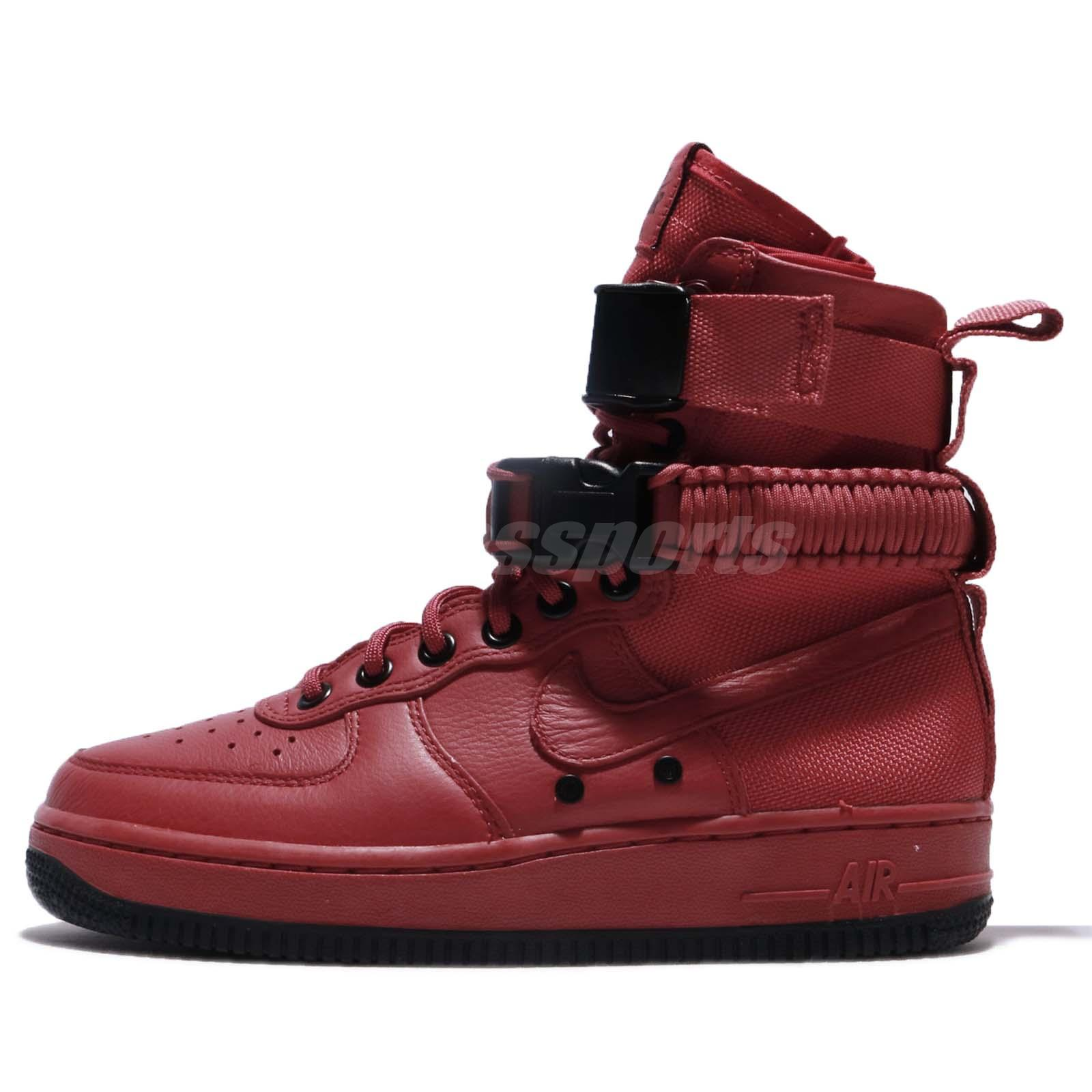 low priced fea5e ca9b4 Nike Wmns SF AF1 Special Field Red Cedar Air Force 1 Women Shoes 857872-600