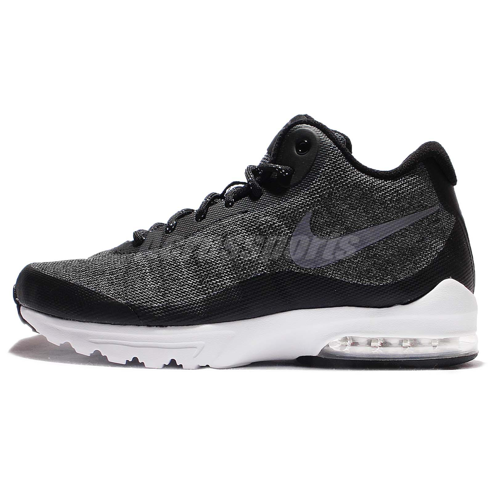nike air max invigor mid black grey men running shoe. Black Bedroom Furniture Sets. Home Design Ideas