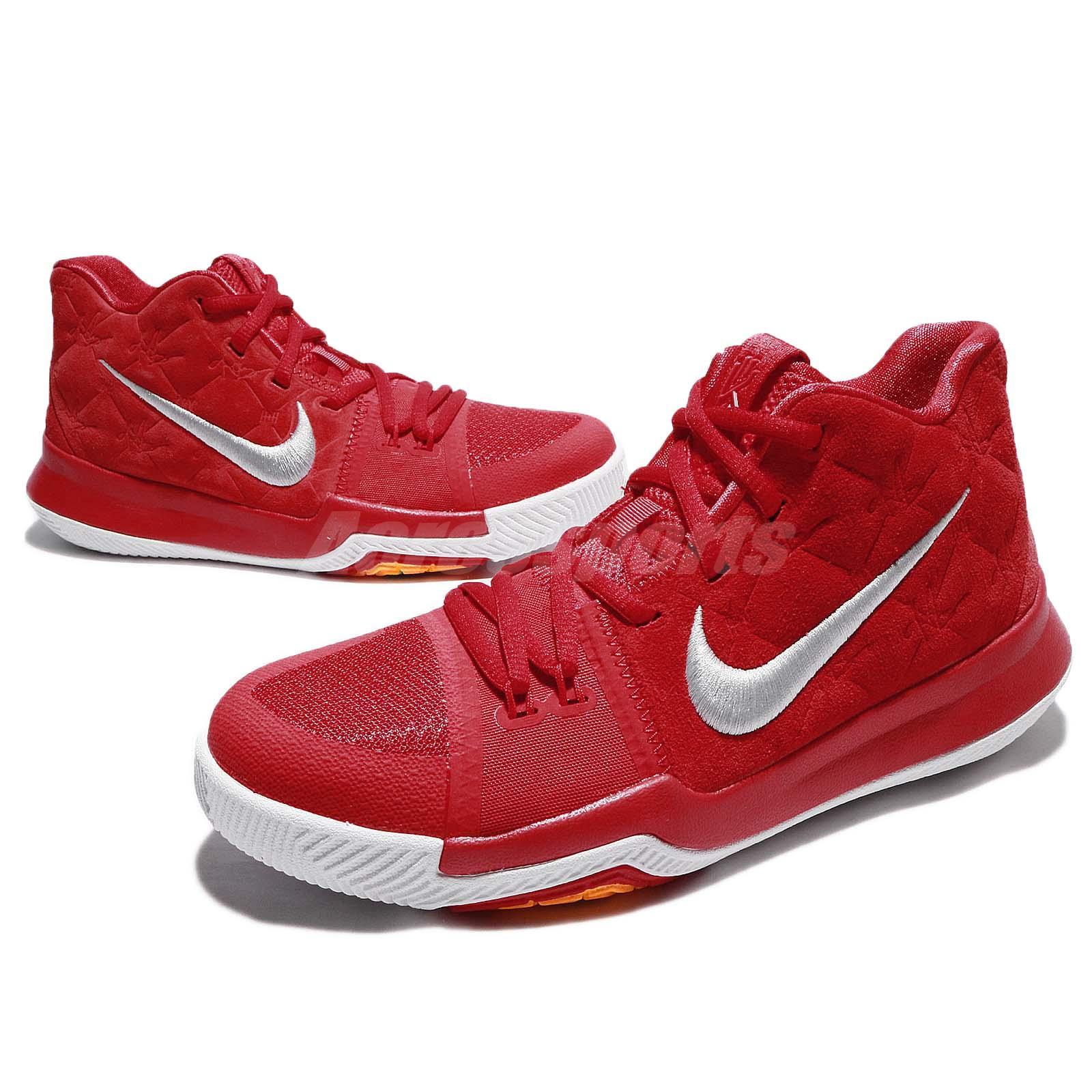 sports shoes df1e0 62098 ... usa nike kyrie 3 gs iii university red white kids women basketball  shoes 0c5f5 bdb88