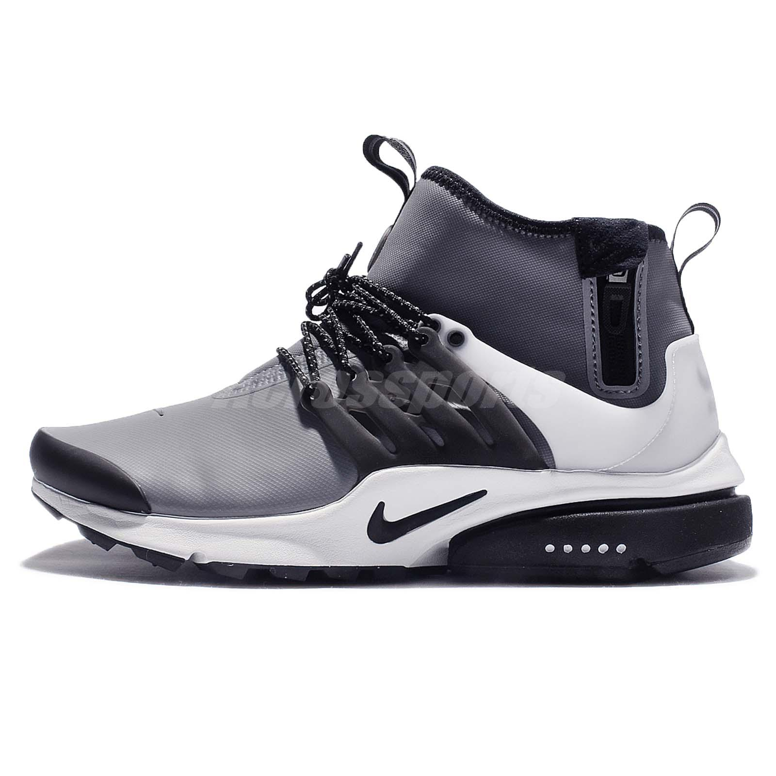 buy popular f02d6 b1386 ... Nike Air Presto Mid Utility DWR Cool Grey Men Side Zip Winter Shoes  859524-001 ...