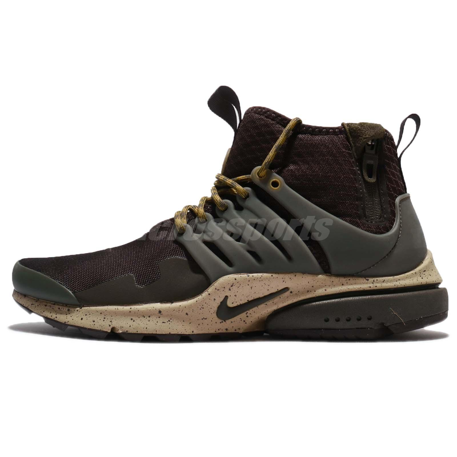 acf9d91d645d ... promo code for nike air presto mid utility velvet brown cargo khaki men  shoe sneaker 859524