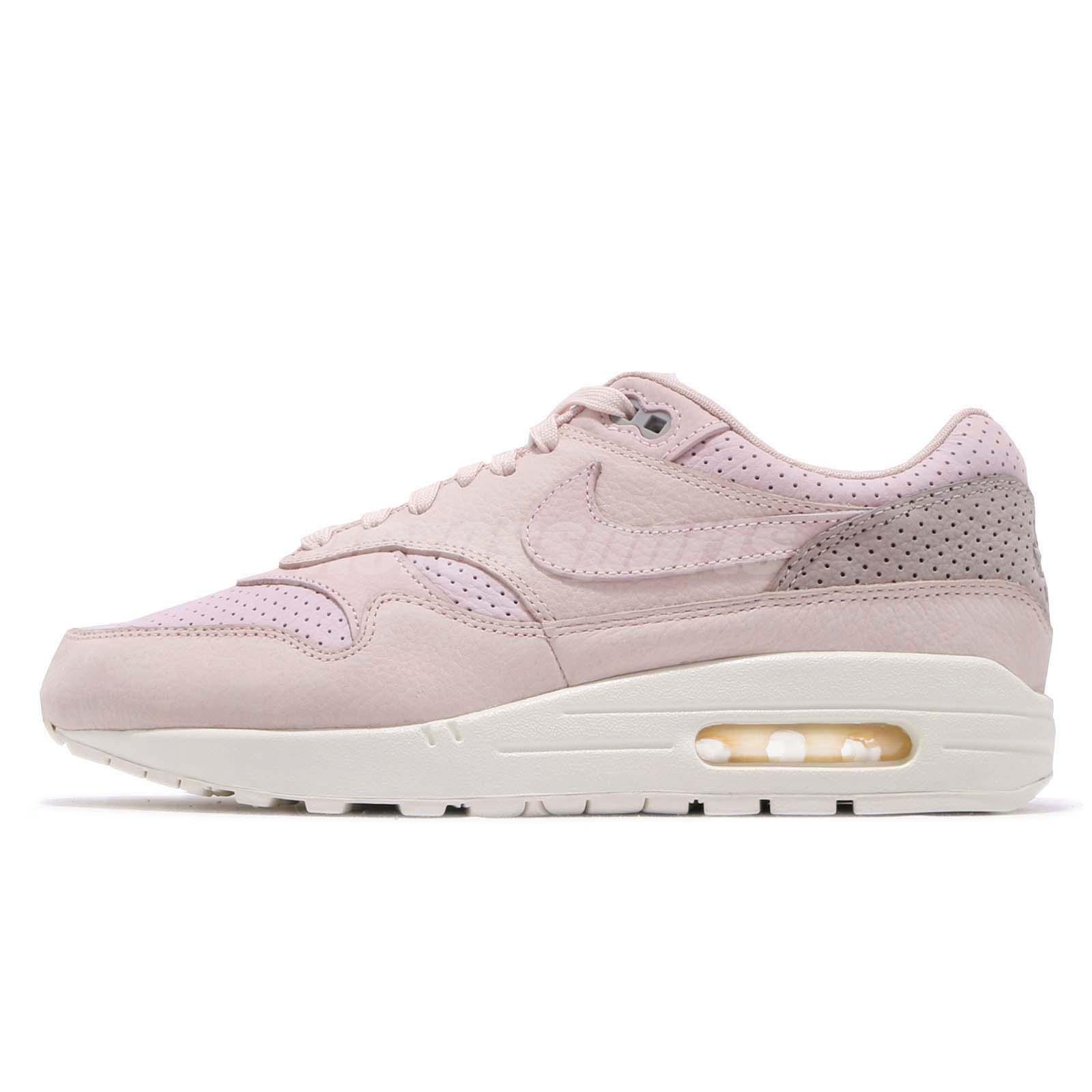 best service 1d53f 9d9f4 Nike NikeLab Air Max 1 Pinnacle Silt Red Pearl Pink Men Running Shoes  859554-600