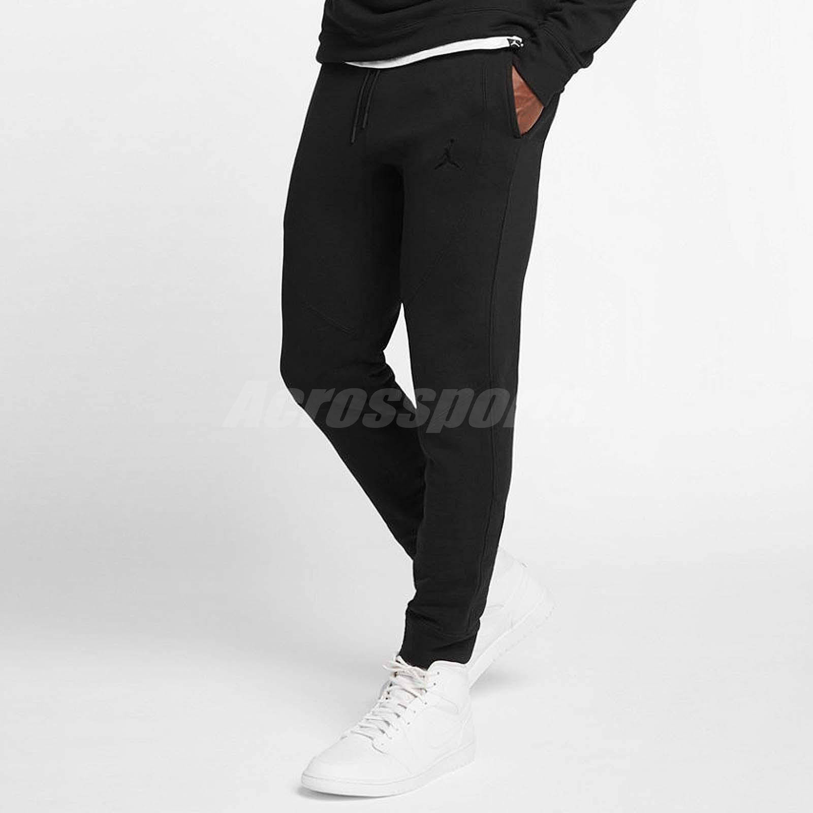 647d0cd0ea8 Details about Nike Men Wings Fleece Pants Air Jordan Jumpman Training Slim  AJ Black 860199-010