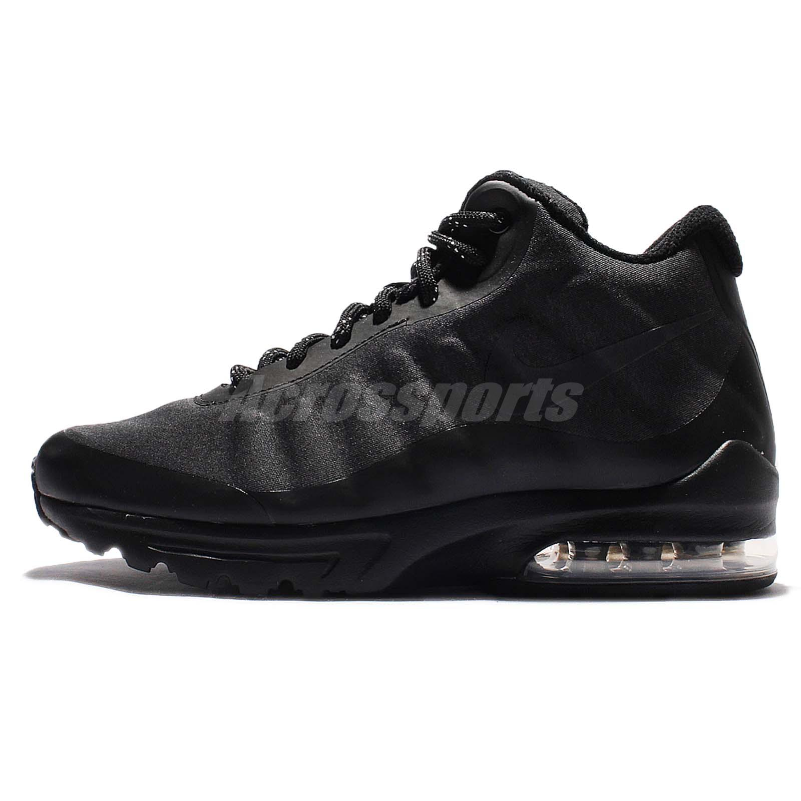 wmns nike air max invigor mid triple black womens running. Black Bedroom Furniture Sets. Home Design Ideas