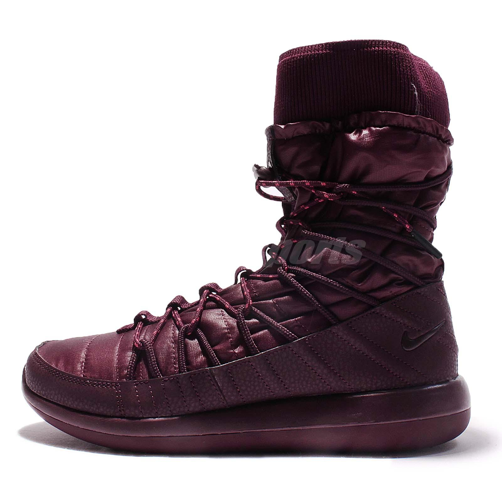 90e37161af656 Wmns Nike Roshe Two Hi 2 Night Maroon Women Sneakerboot Casual Shoes  861707-600 ...