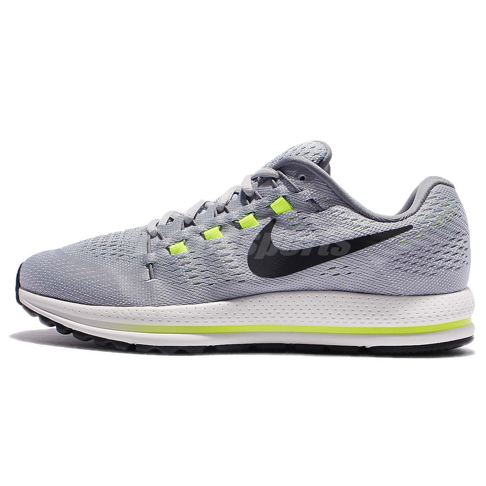 separation shoes ad74a e8d5c Nike Air Zoom Vomero 12 Grey Black Volt Men Running Shoes Sneakers 863762- 002