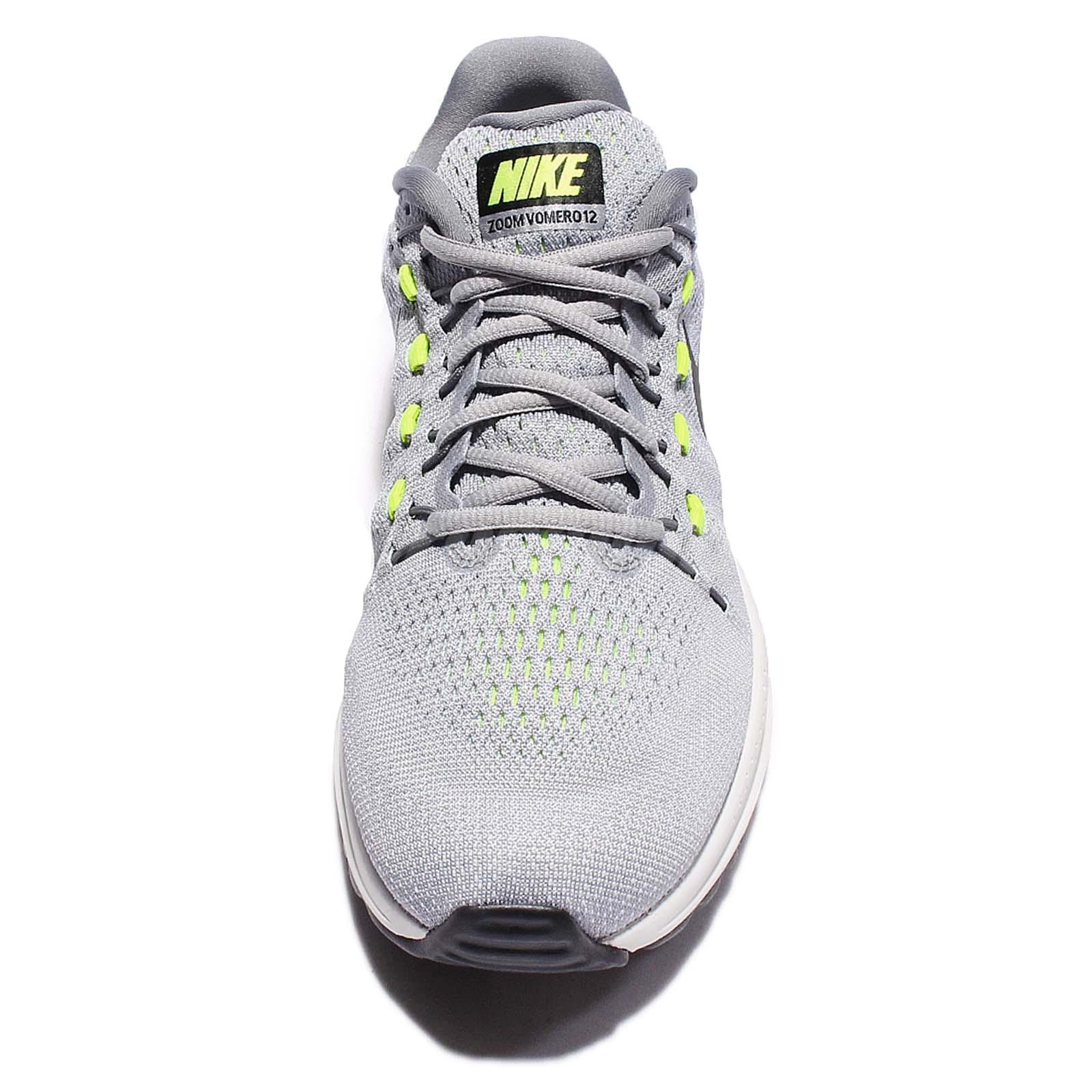 bf26fb9b5 Nike Air Zoom Vomero 12 Grey Black Volt Men Running Shoes Sneakers ...