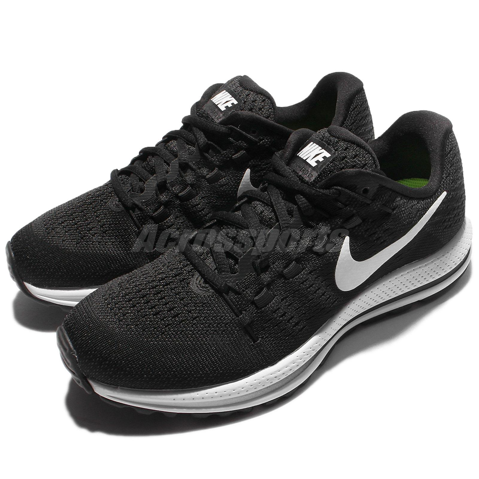 8be6c5303916 Details about Nike Wmns Air Zoom Vomero 12 Black White Women Running Shoes  Sneakers 863766-001