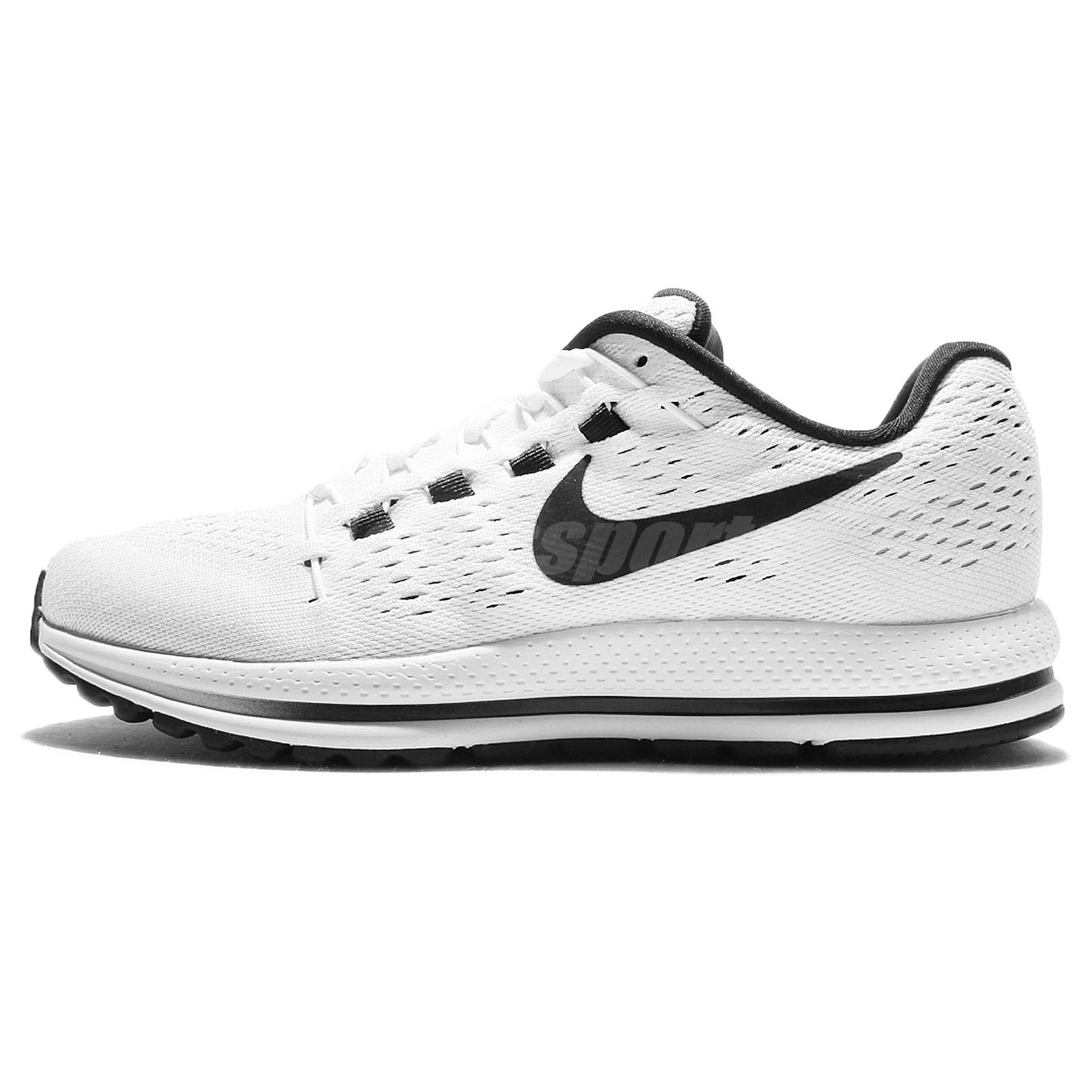 21b2a89ac78 Wmns Nike Air Zoom Vomero 12 White Black Womens Running Shoes 863766 ...