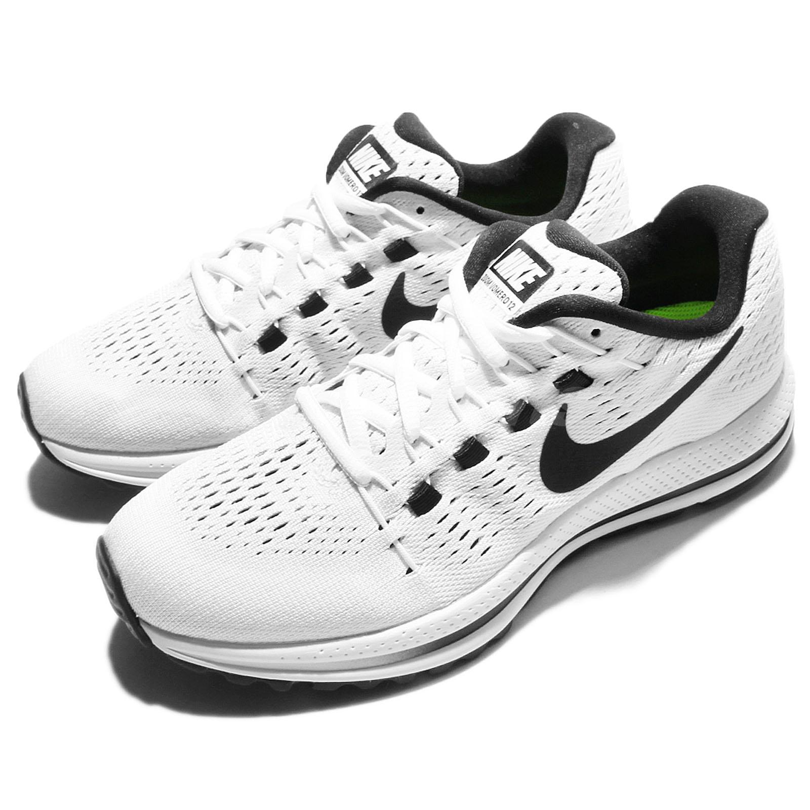 5ad48cb164ce3 Details about Wmns Nike Air Zoom Vomero 12 White Black Womens Running Shoes  863766-100