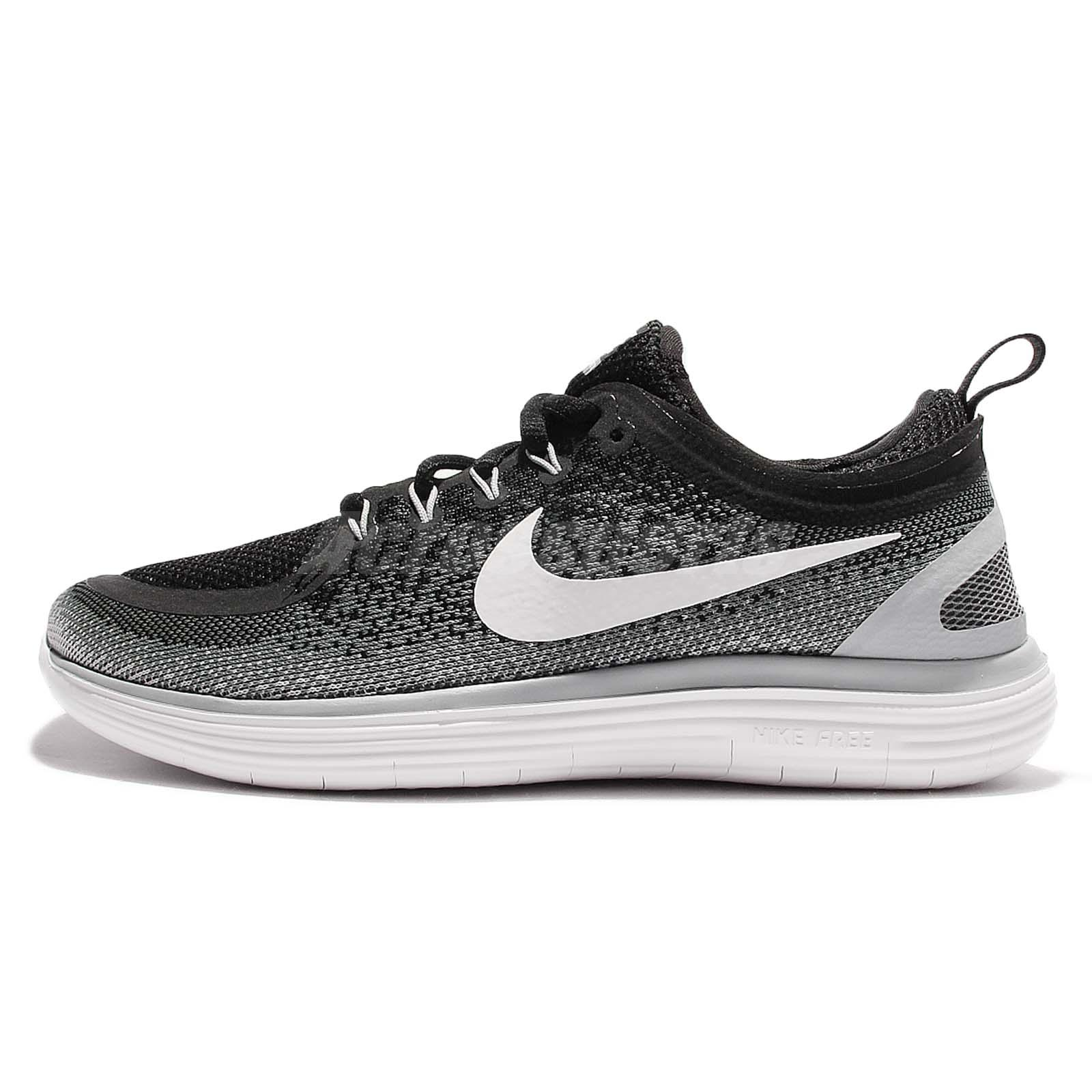 8938a7f4a914 Nike Wmns Free RN Distance 2 Run Black White Women Running Shoes 863776-001