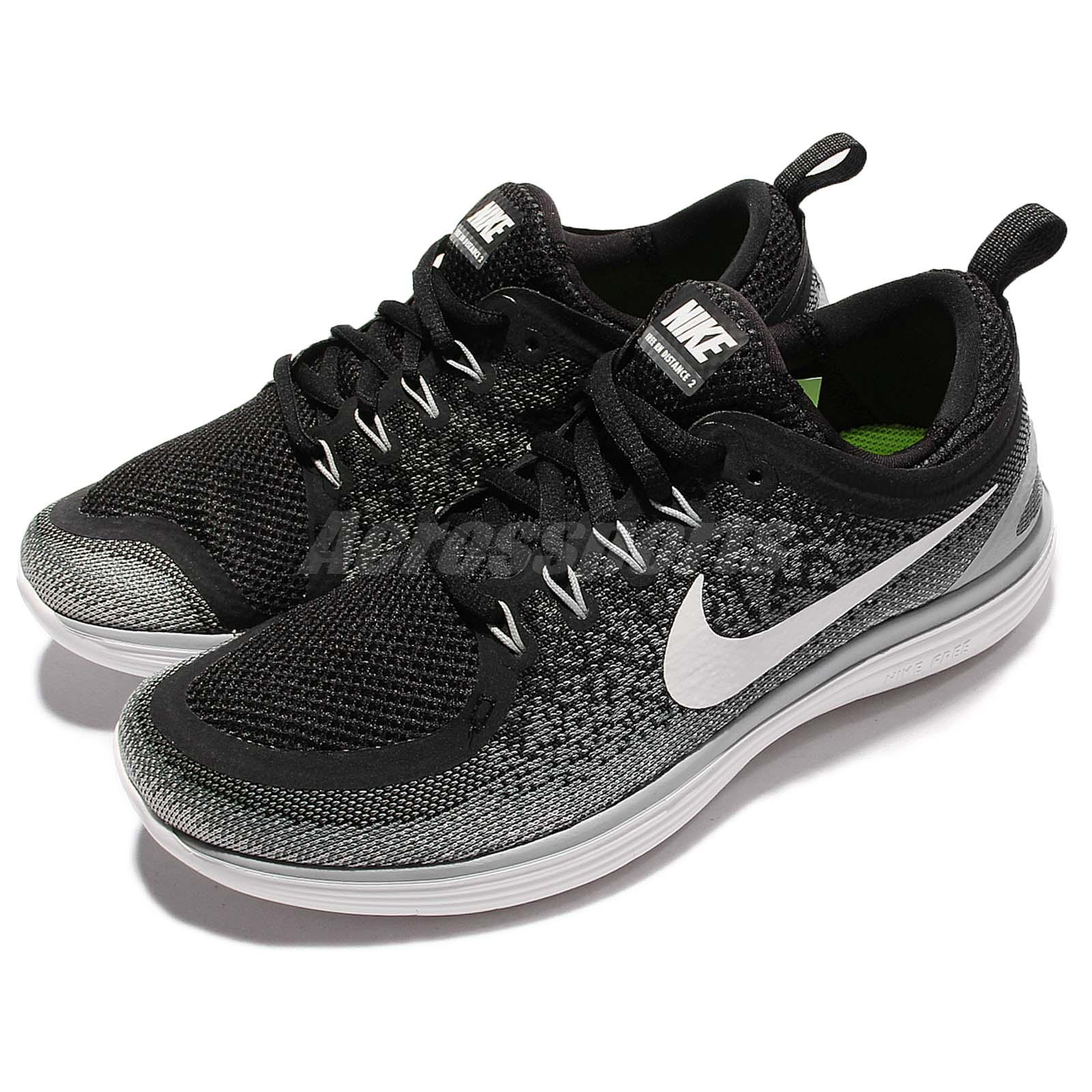 3e92b5e63f612 Details about Wmns Nike Free RN Distance 2 Run Black White Women Running  Shoes 863776-001