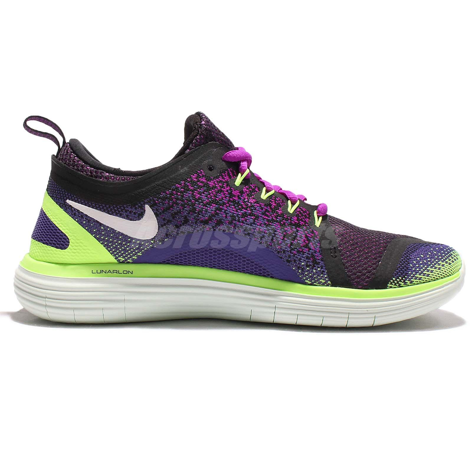 le dernier c1dd5 8e651 Details about Nike Wmns Free RN Distance 2 II Run Purple Green Women  Running Shoes 863776-501