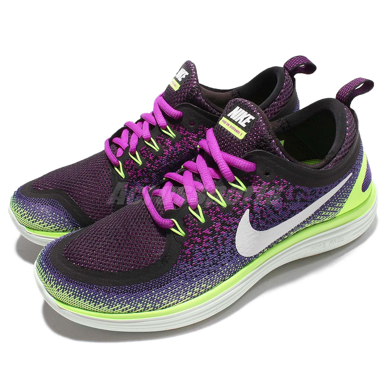 Wmns Nike Free RN Distance 2 II Run Purple Green Women ...