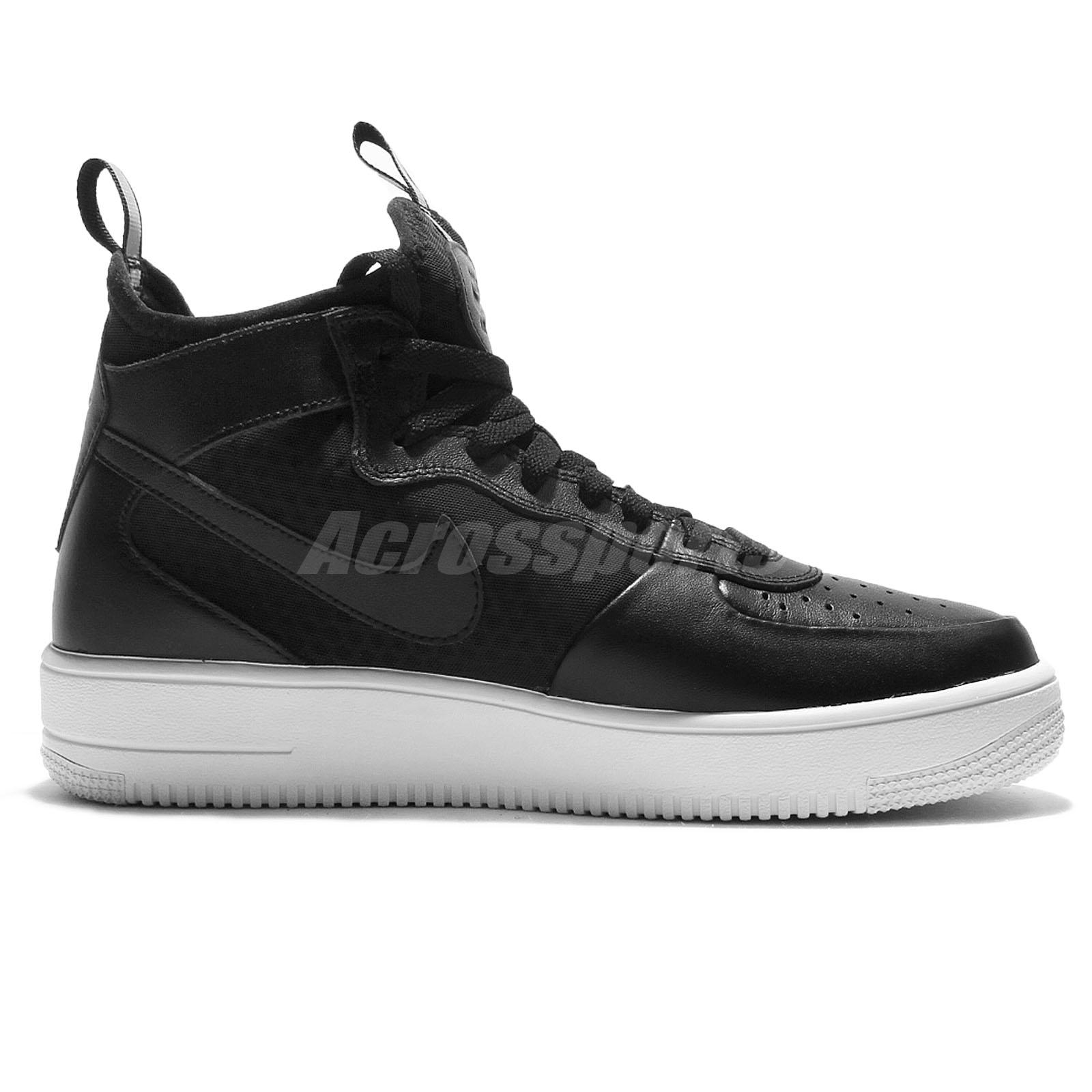 b9c08160 Nike Air Force 1 Ultraforce Mid Black White Men AF1 Shoes Sneakers ...