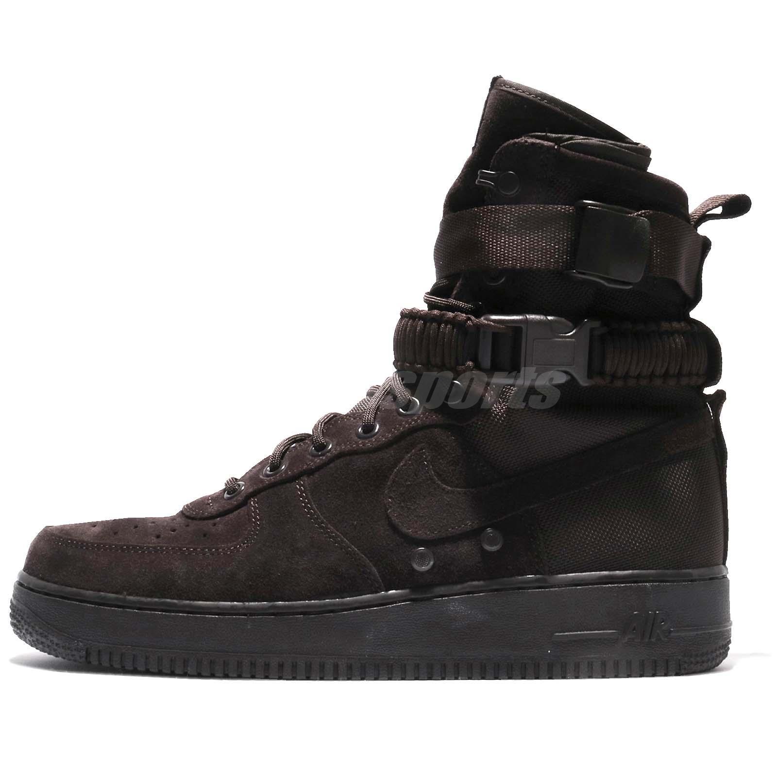 Nike SF AF1 Air Force 1 Special Field Velvet Brown Men Shoes Sneakers  864024-203