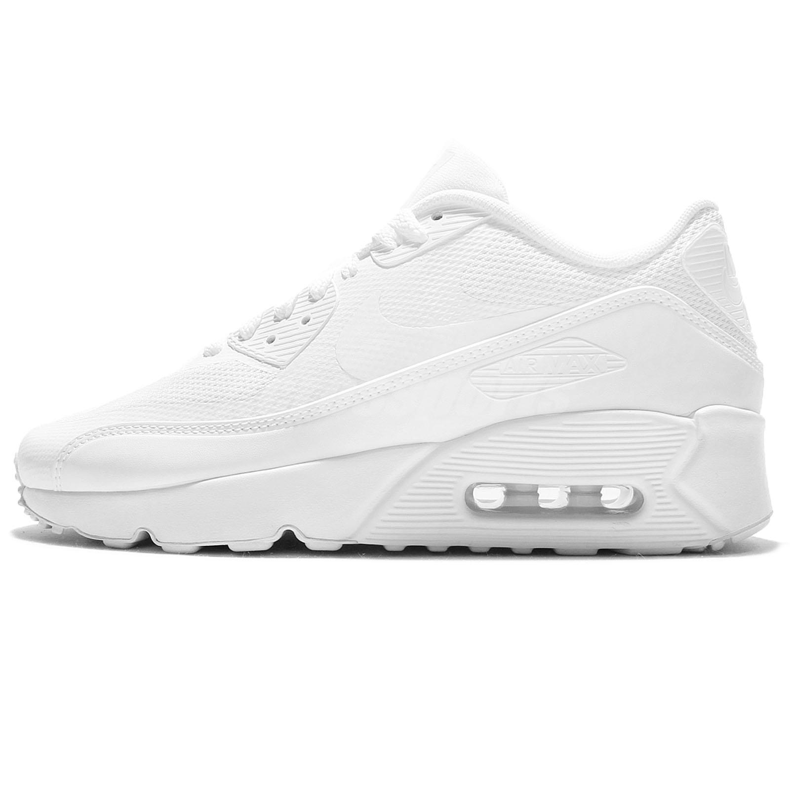 buy online fec13 73a59 Nike Air Max 90 Ultra 2.0 GS Triple White Kid Women Running Shoes 869950-100