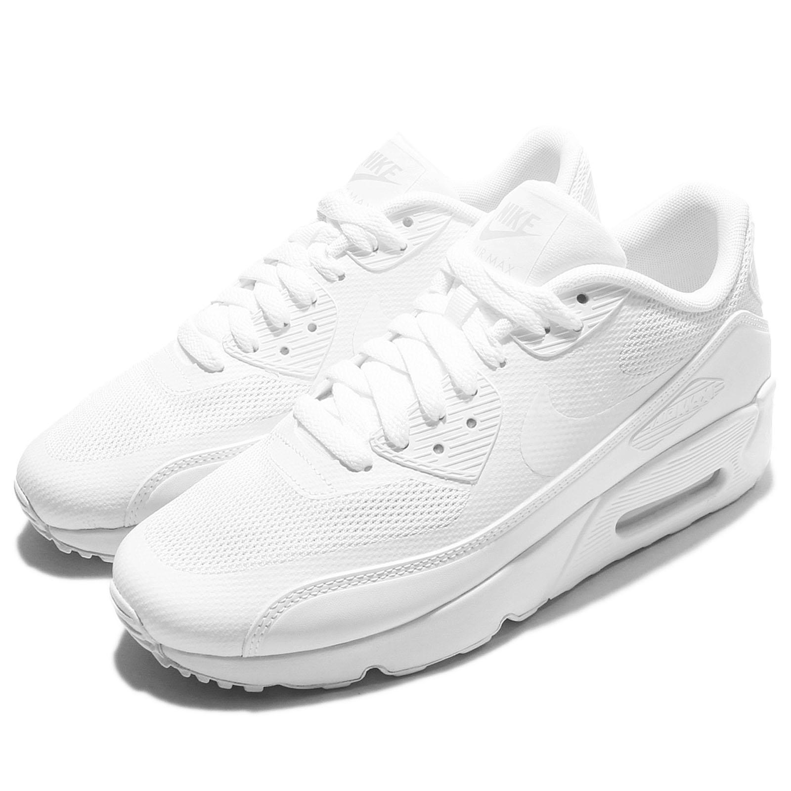 bb26c5de2ab Details about Nike Air Max 90 Ultra 2.0 GS Triple White Kid Women Running  Shoes 869950-100
