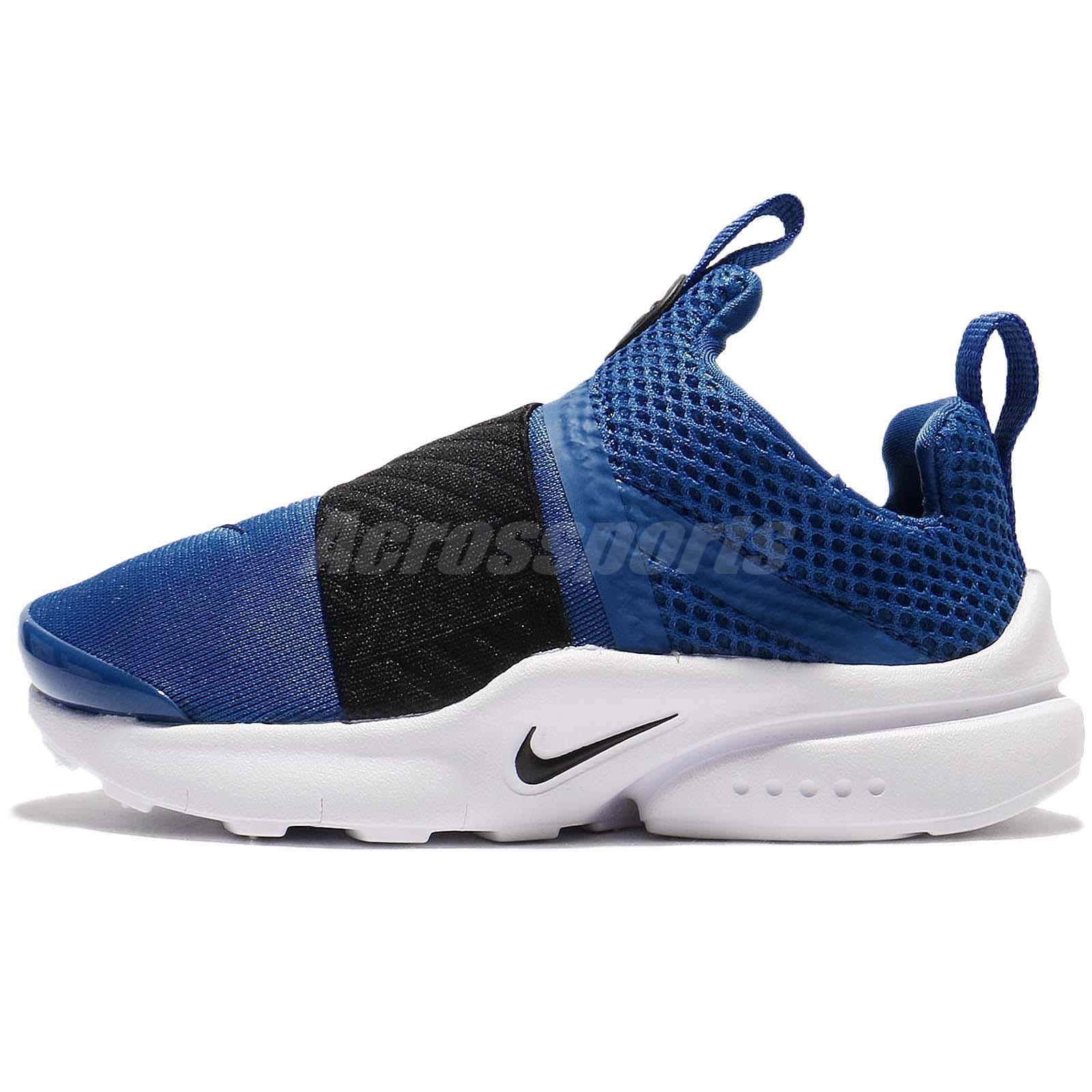... nike presto extreme td blue black toddler baby infant running shoes  870019 402