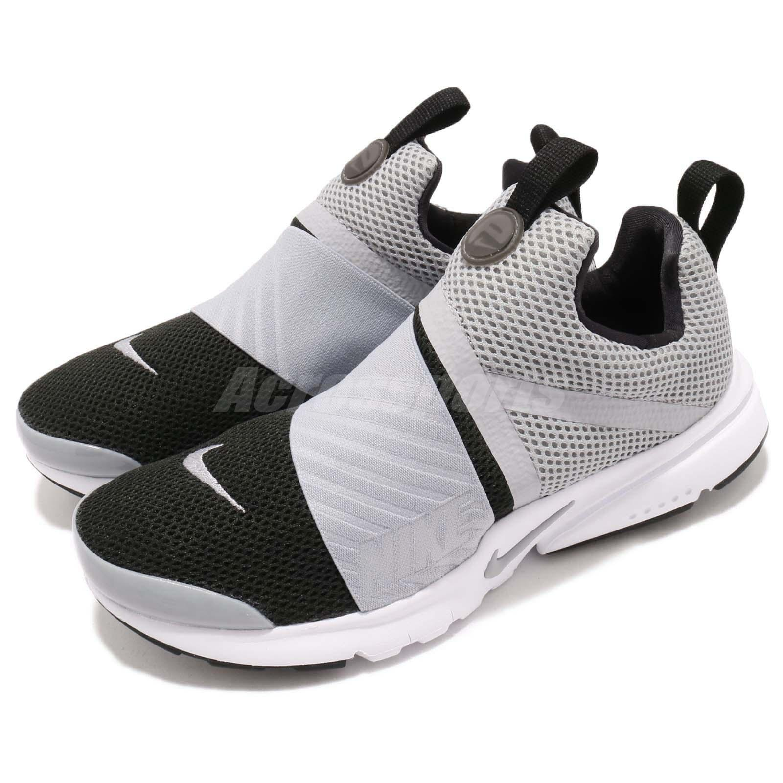 buy popular 97b17 9c708 Details about Nike Presto Extreme GS Grey Black White Kid Youth Women  Running Shoes 870020-006