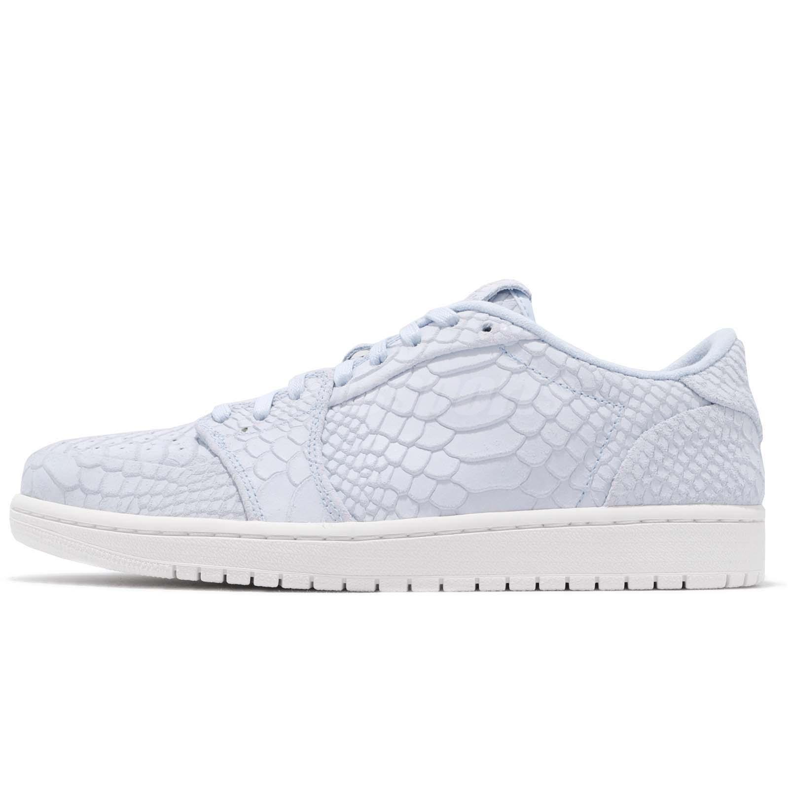 9cb19caf8f31 Nike Air Jordan 1 Retro Low NS No Swoosh Ice Blue Sail Men Shoes 872782-441