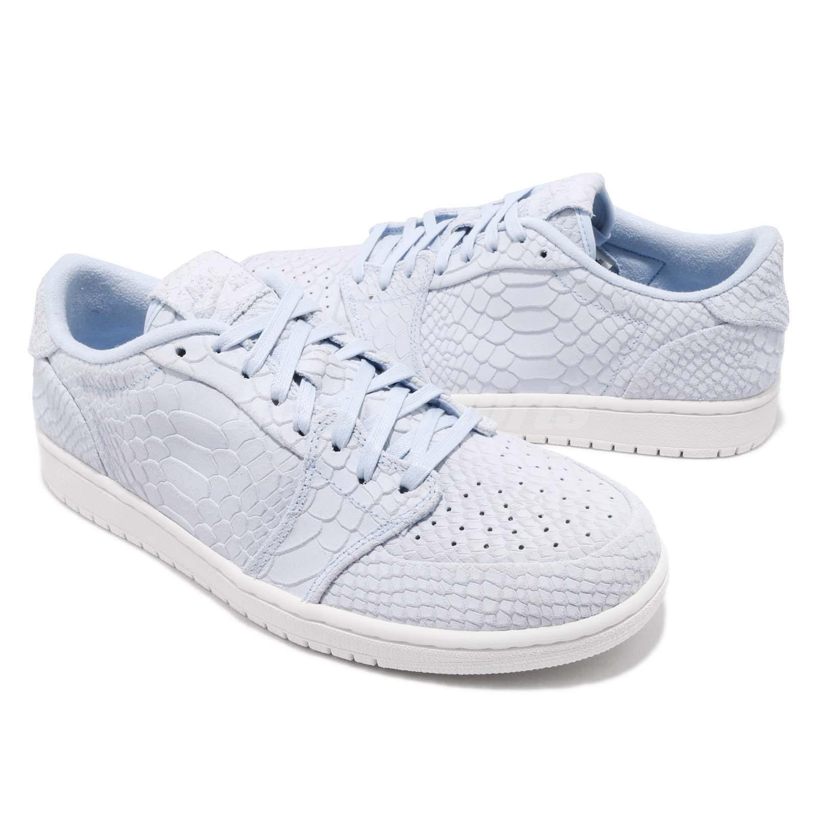 6fc07bc7620 Men's Shoes Nike Air Jordan 1 Retro Low NS No Swoosh Ice Blue Sail Men Shoes  ...