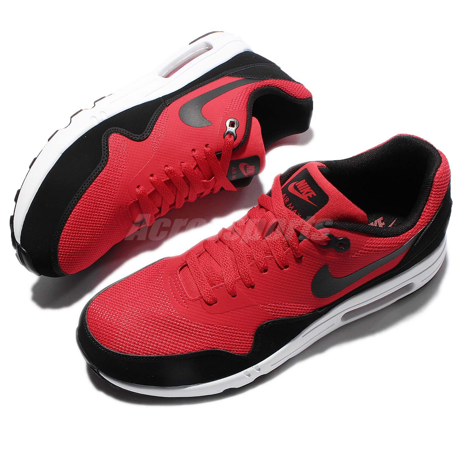 hot sale online 0c582 5cfe9 Details about Nike Air Max 1 Ultra 2.0 Essential Red Black Men Running Shoe  Sneaker 875679-600
