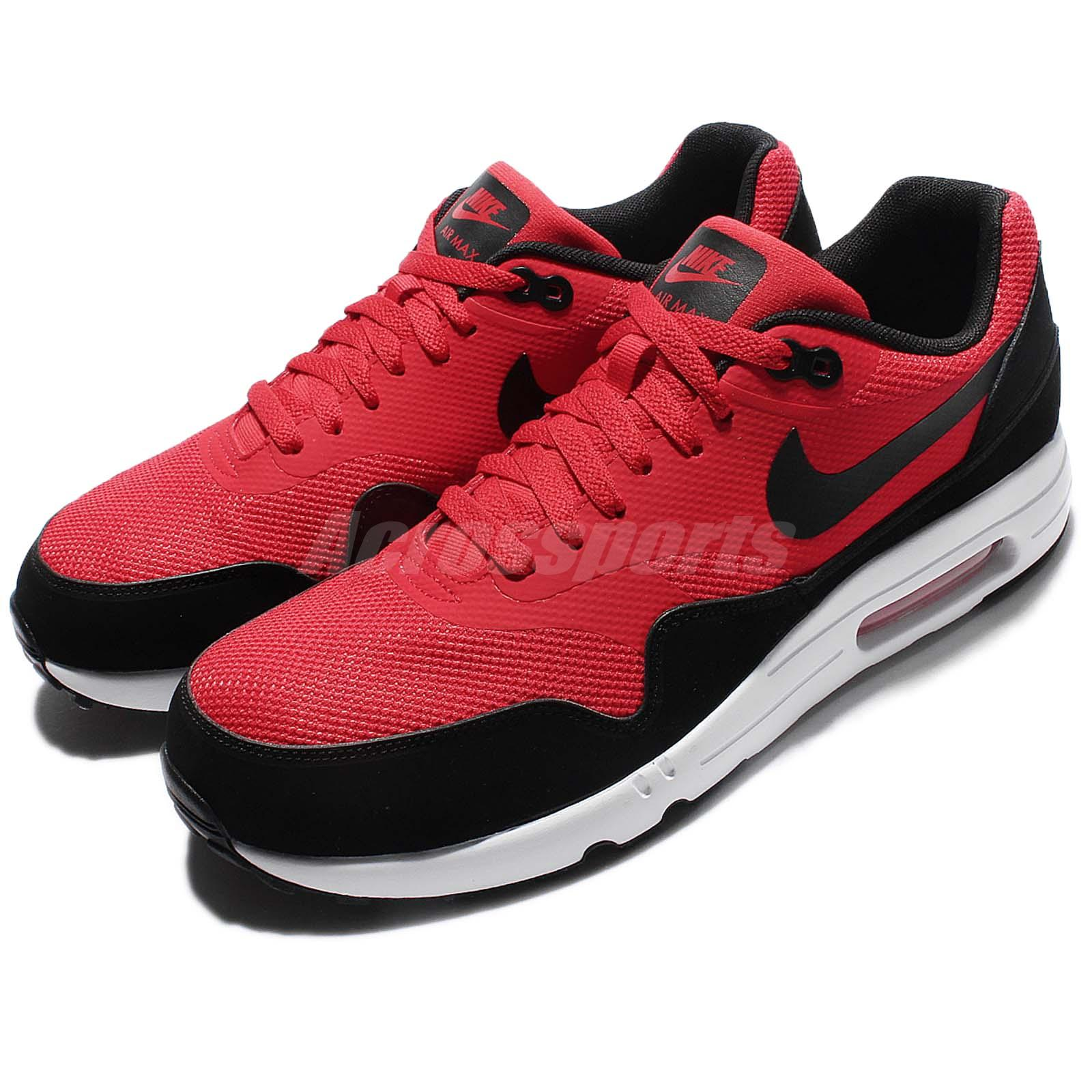 hot sale online e0ef7 509ad Details about Nike Air Max 1 Ultra 2.0 Essential Red Black Men Running Shoe  Sneaker 875679-600
