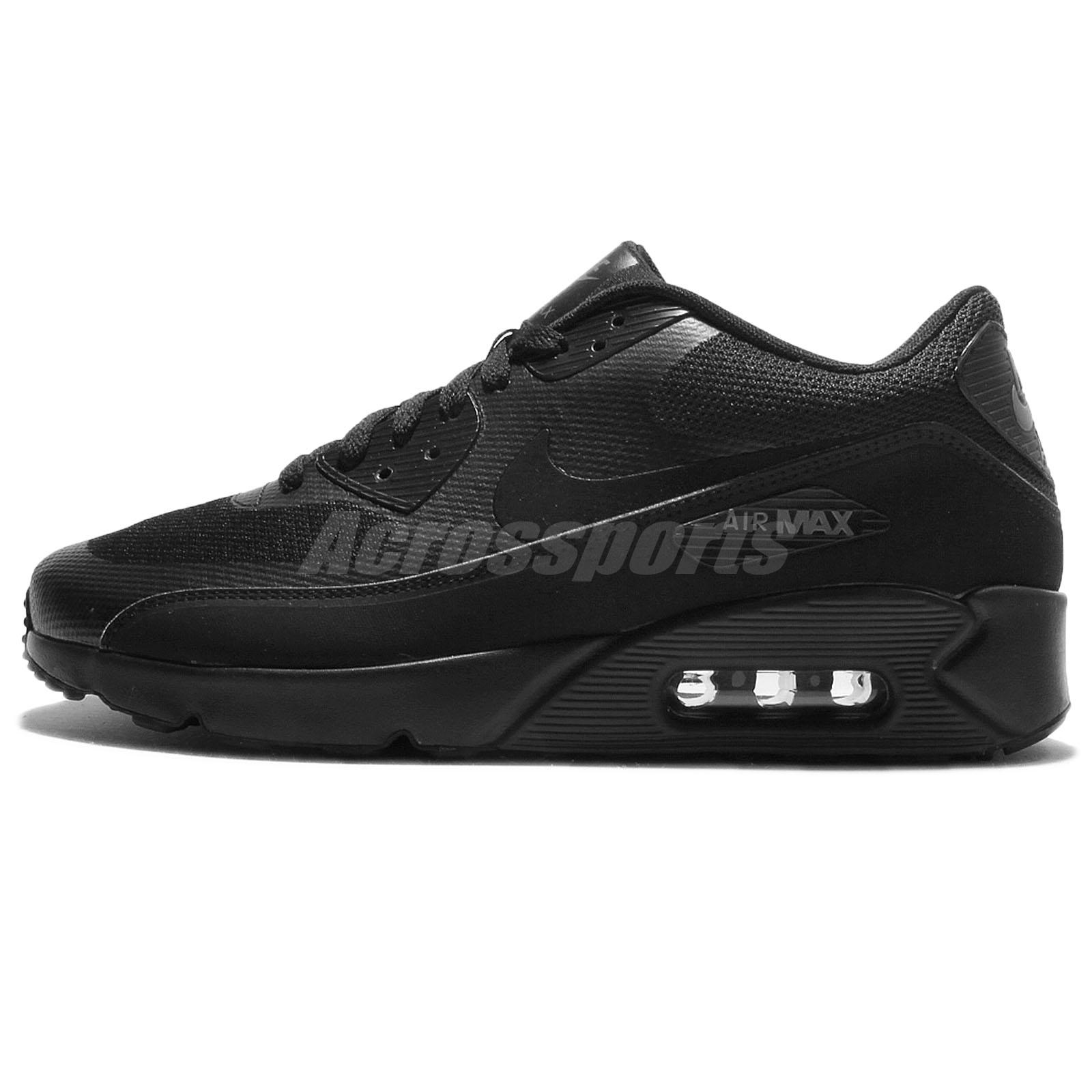 Nike Air Max 90 Ultra 2.0 Essential Triple Black Men Running Shoes  875695-002 601c39802c