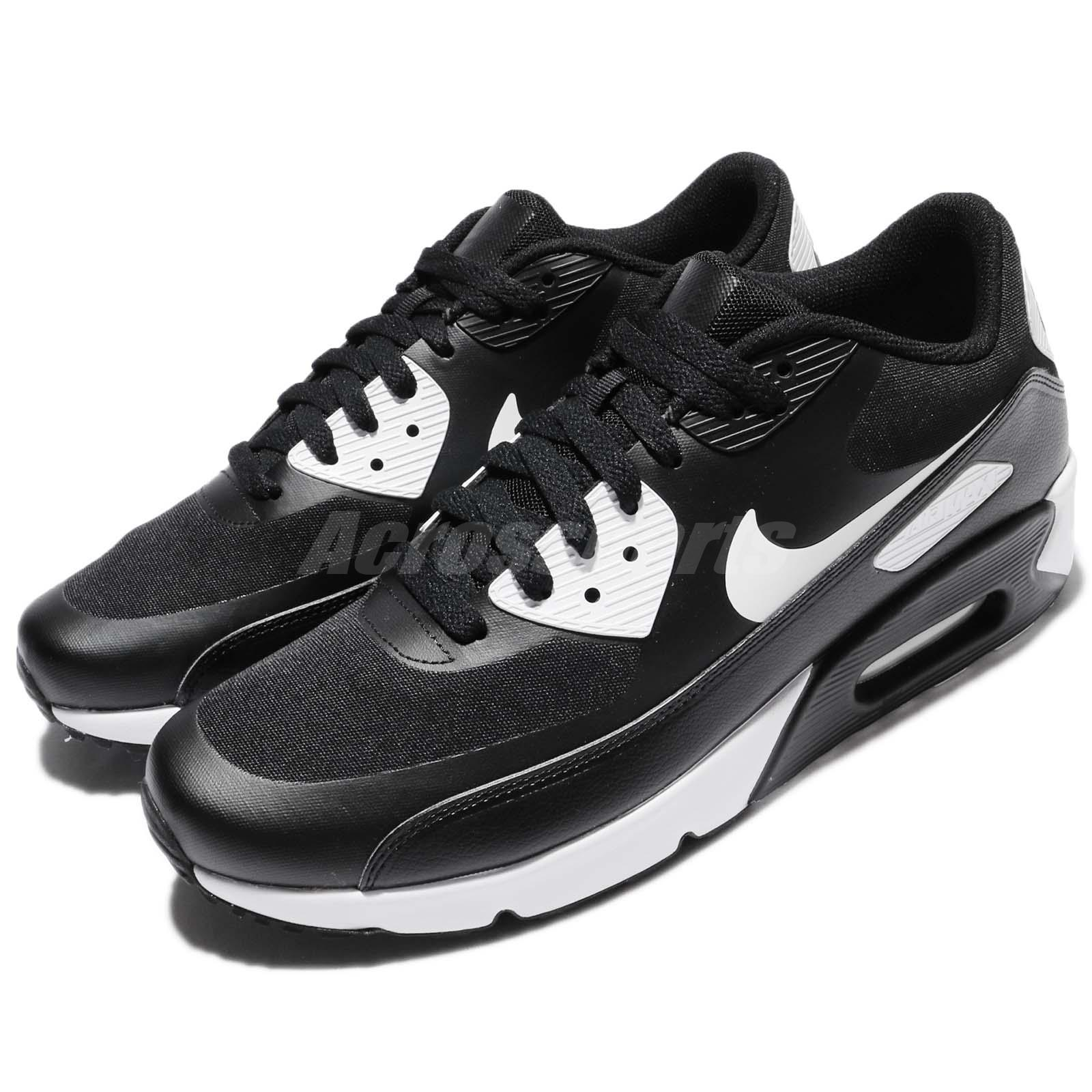 Details about Nike Air Max 90 Ultra 2.0 Essential Black White Men Running  Shoes 875695-008 bbd0bb82719cc