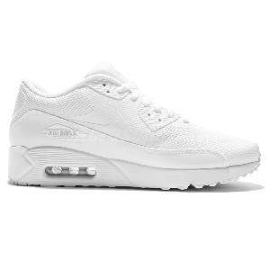 eb3ca01894a61 ... Nike Air Max 90 Ultra 2.0 Essential Triple White Men Running Shoes  875695-101 ...